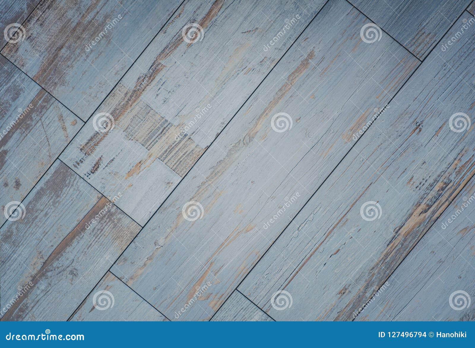 Fond carrelé de conseil en bois - plancher en bois de cru