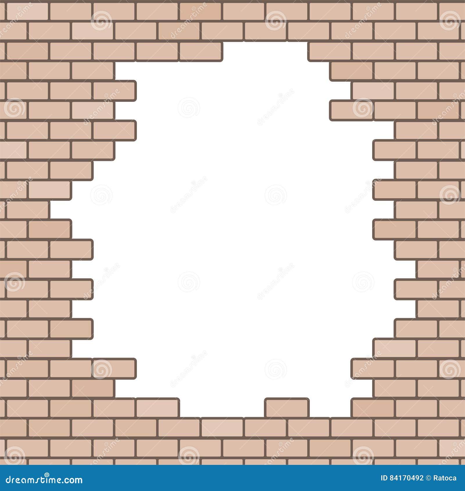 Fond Casse De Mur De Briques Illustration De Vecteur Illustration Du Briques Fond 84170492