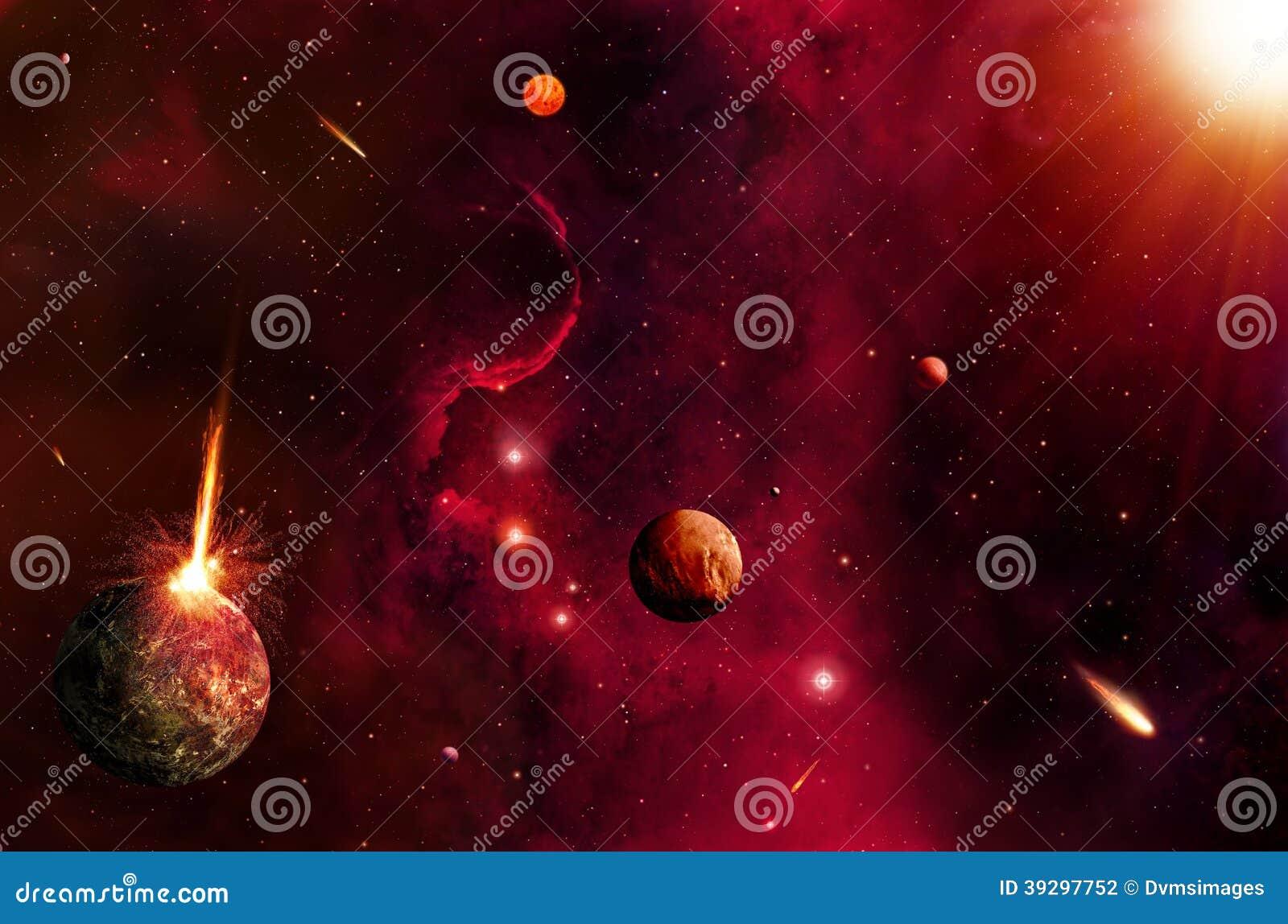 Fond chaud de l espace et d étoiles