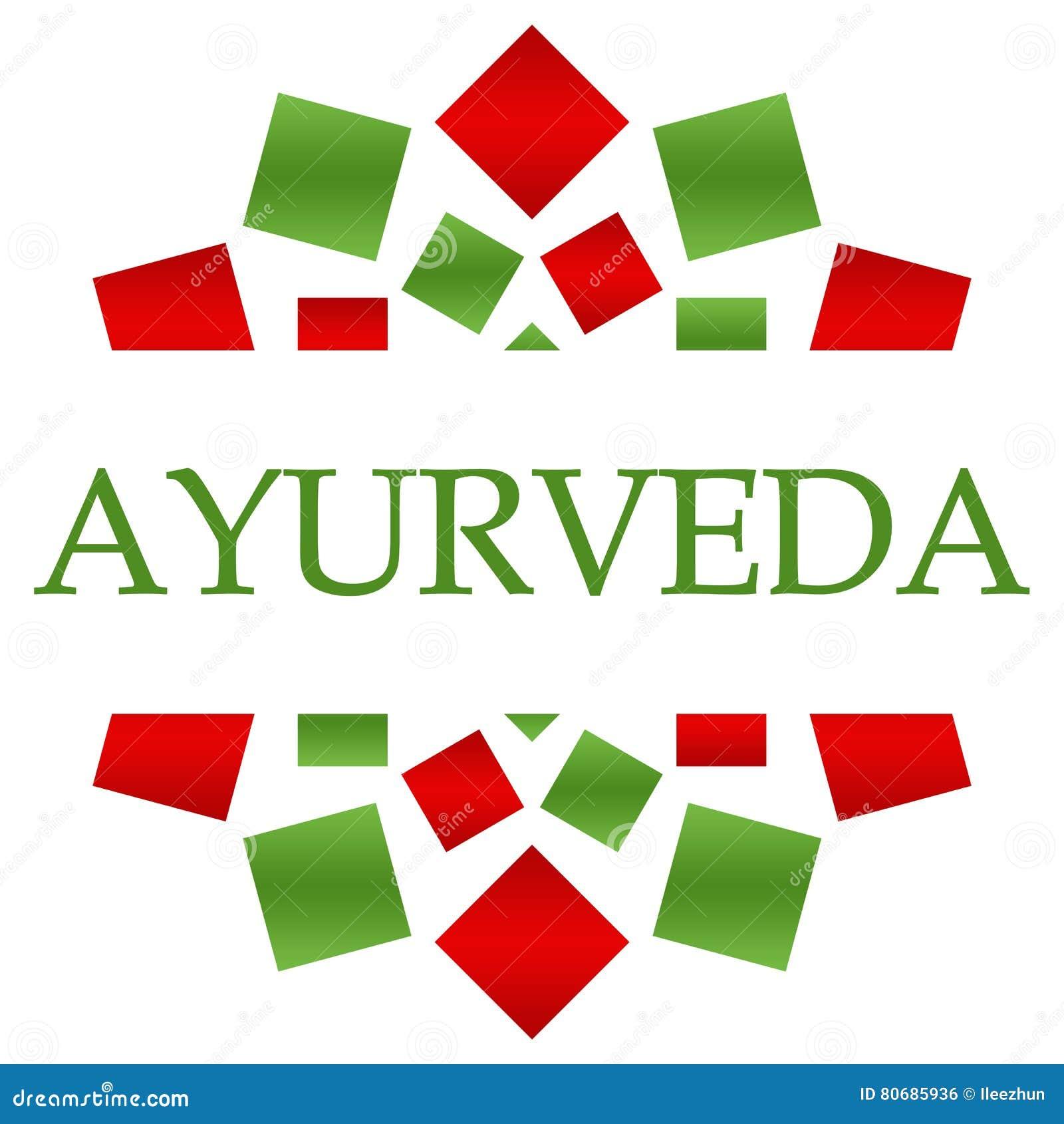 Fond circulaire vert rouge d Ayurveda