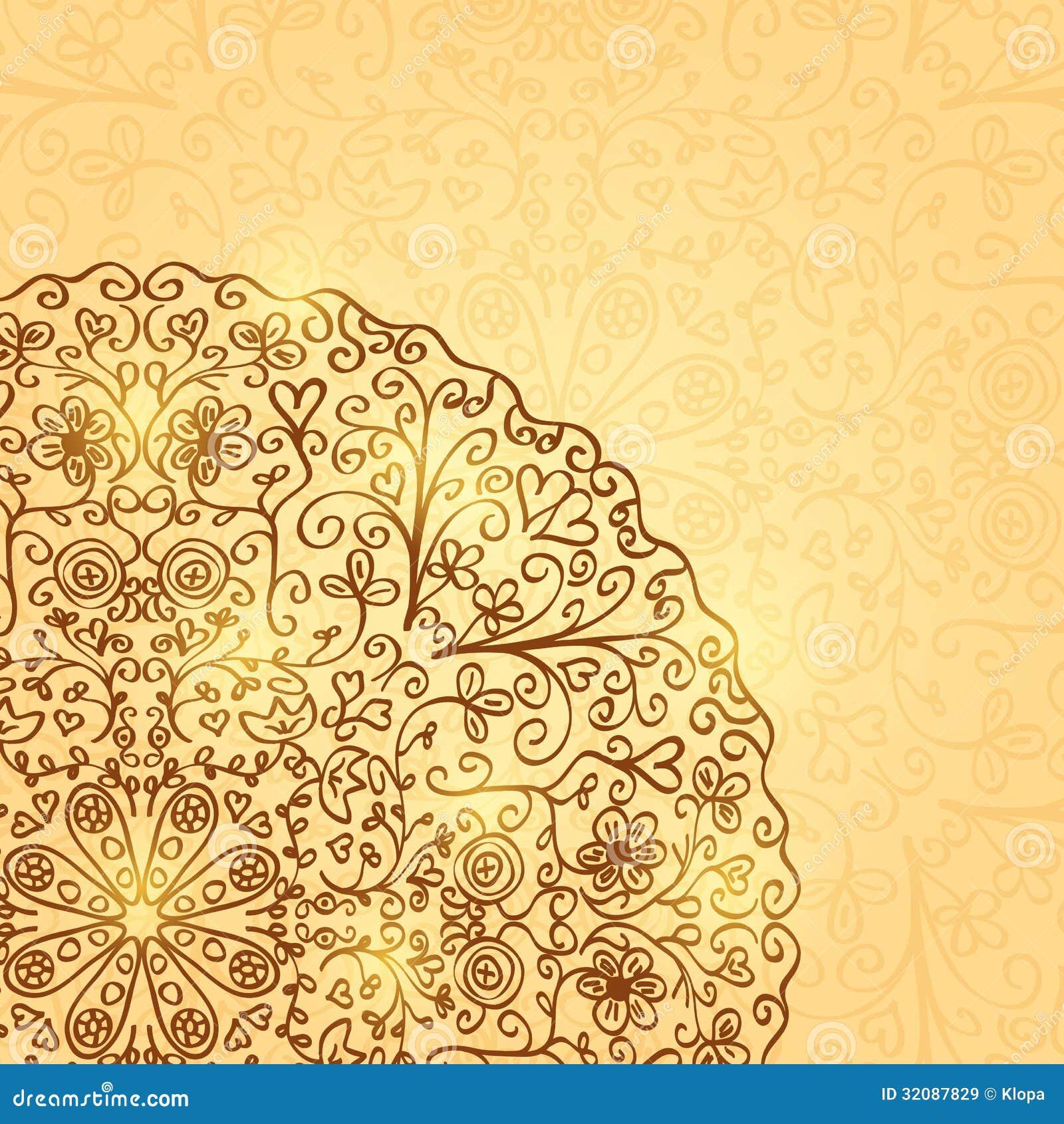 Vintage flower wallpaper designs vintage floral wallpaper - Fond Clair Avec Demi Mandala Ornament Images Libres De