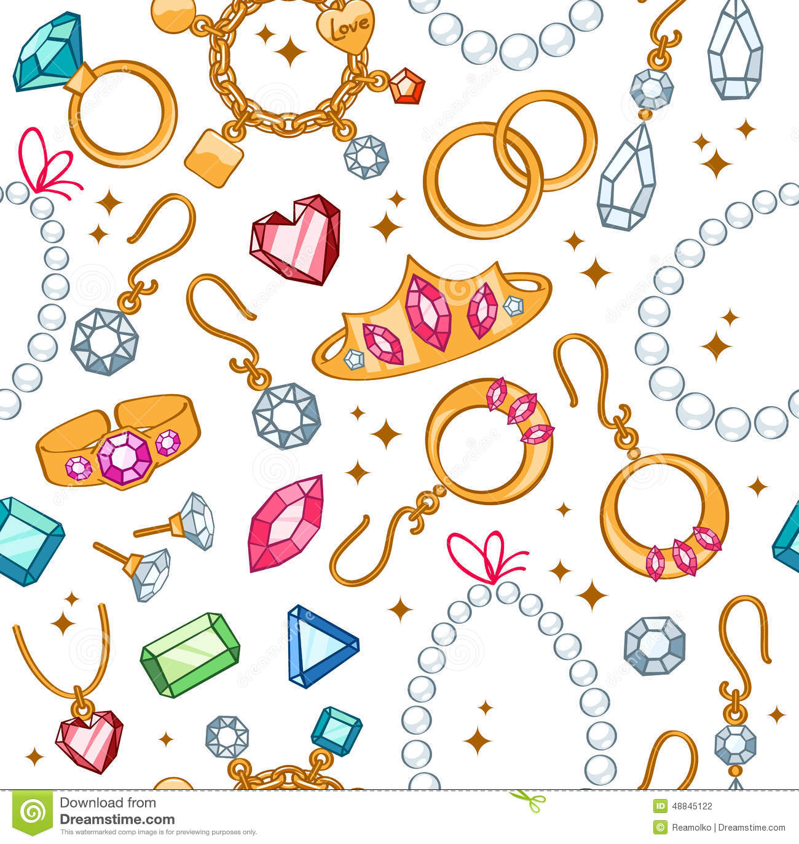 Fond clair sans couture d articles de bijoux