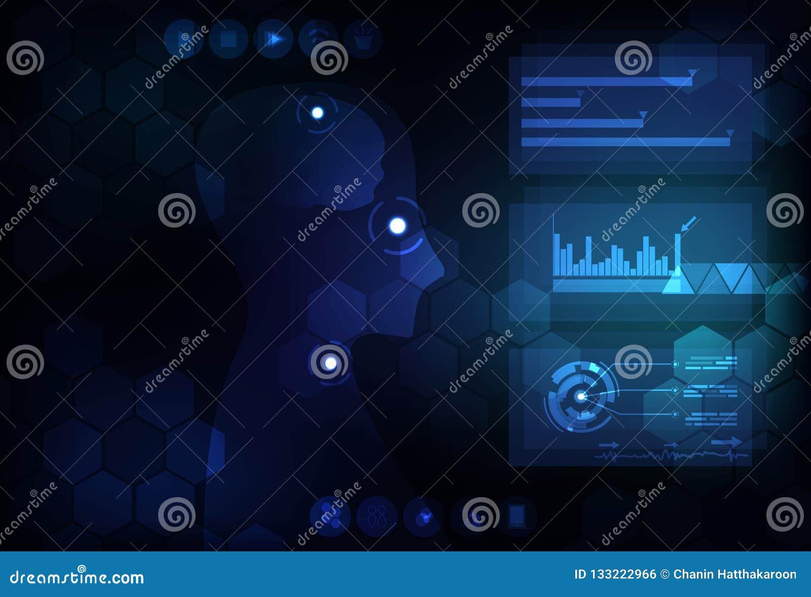 Fond Co infographic futuriste numérique d abrégé sur technologie