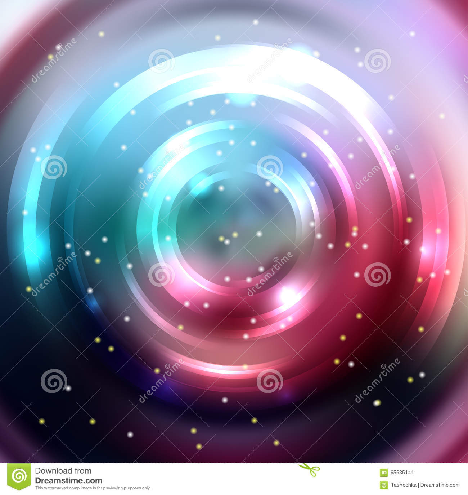 Fond coloré abstrait, tunnel brillant de cercle Mod élégant