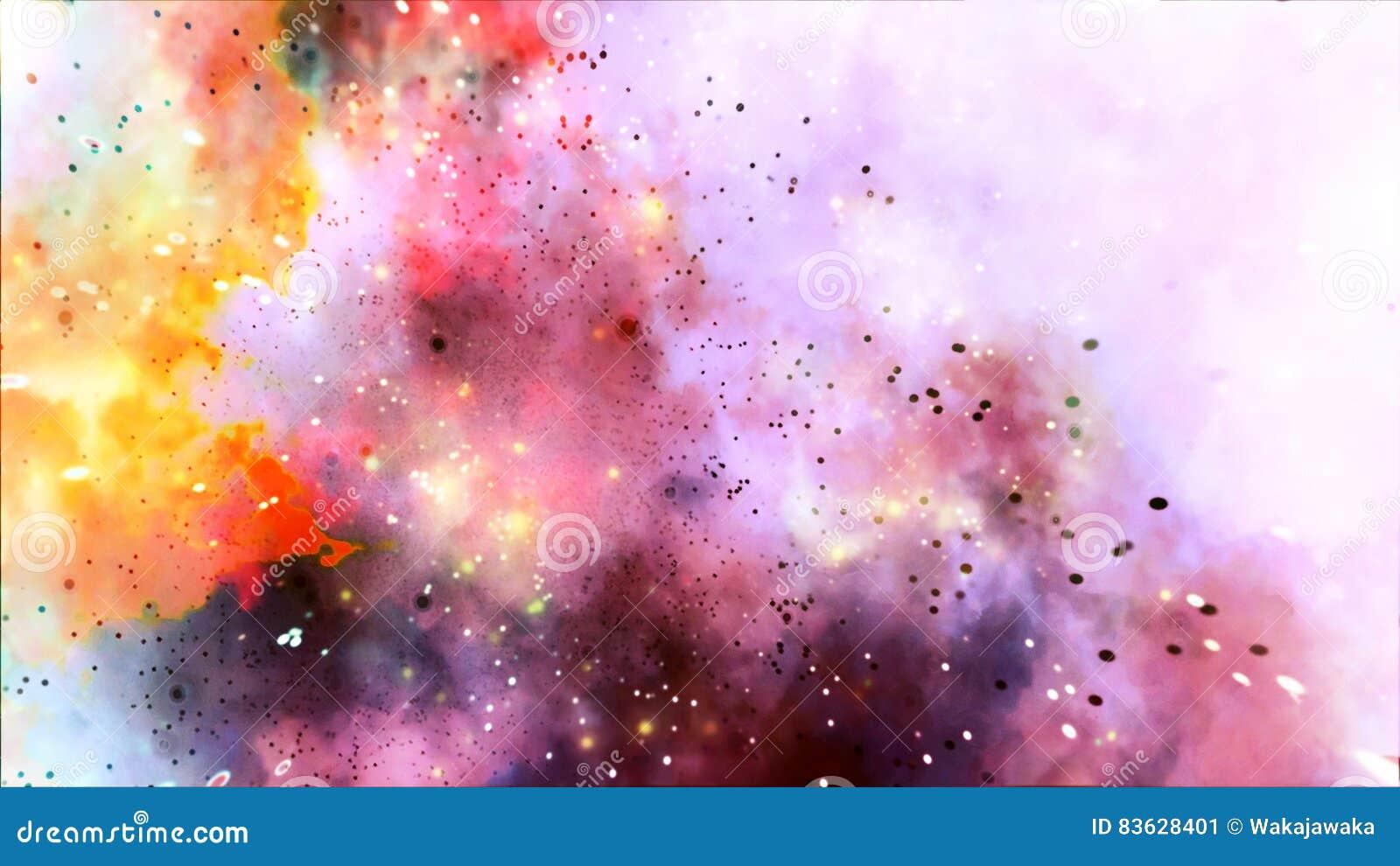 Fond coloré d abrégé sur Strars d explosion de galaxie d arc-en-ciel
