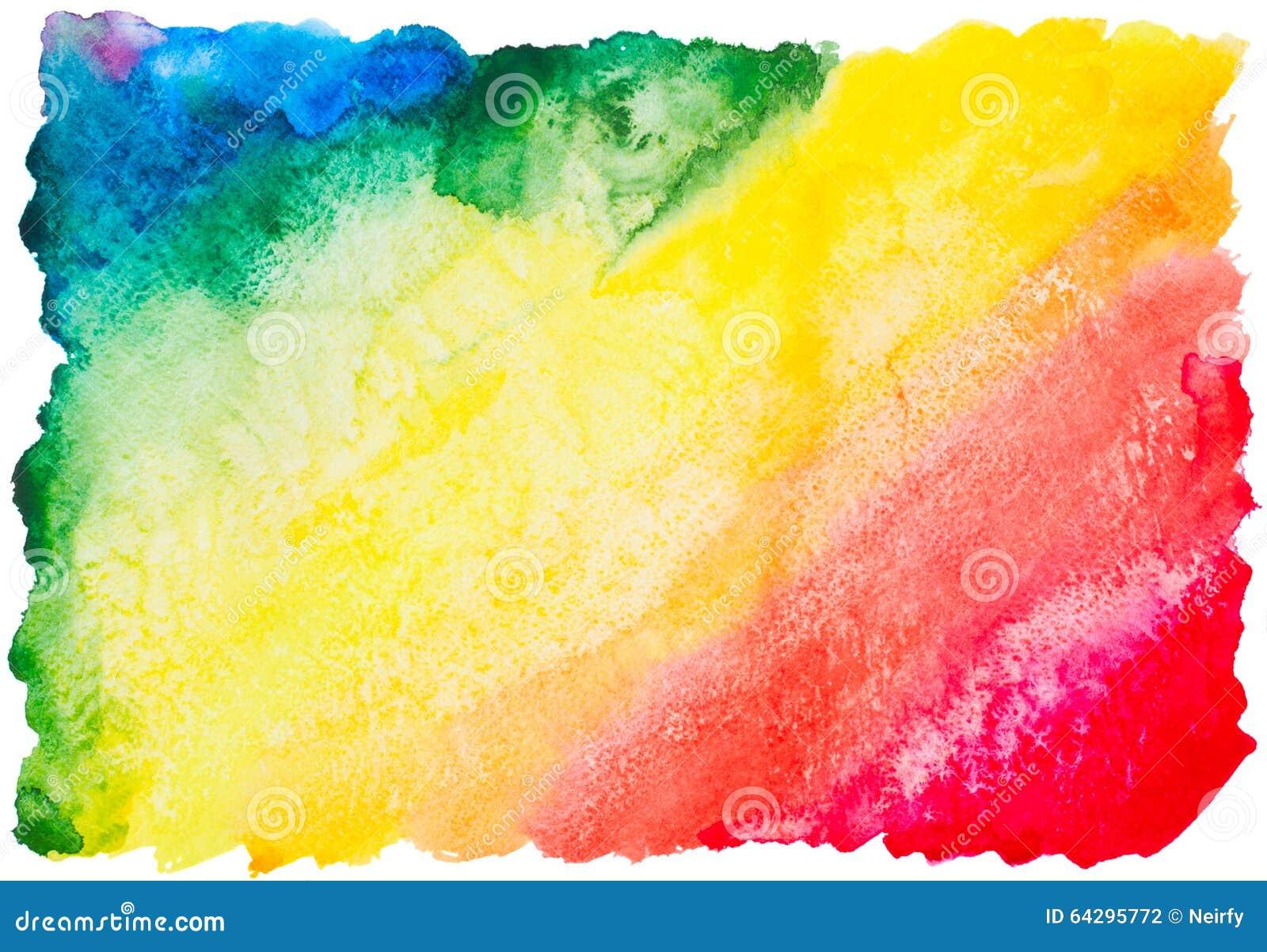 Fond coloré d arc-en-ciel d aquarelle