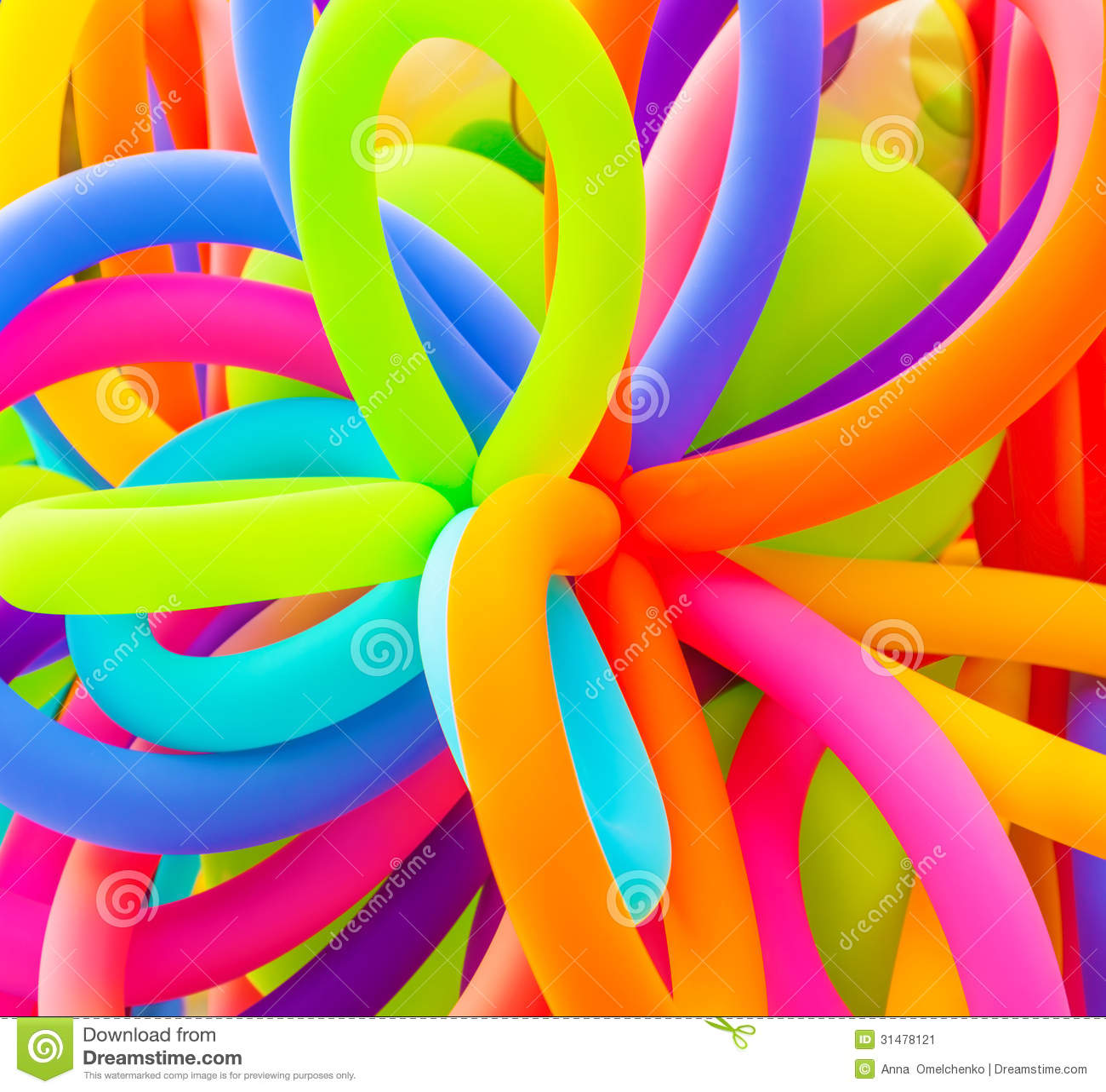 Fond coloré de ballons