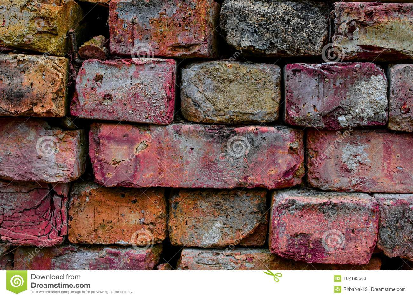 Fond coloré de brique