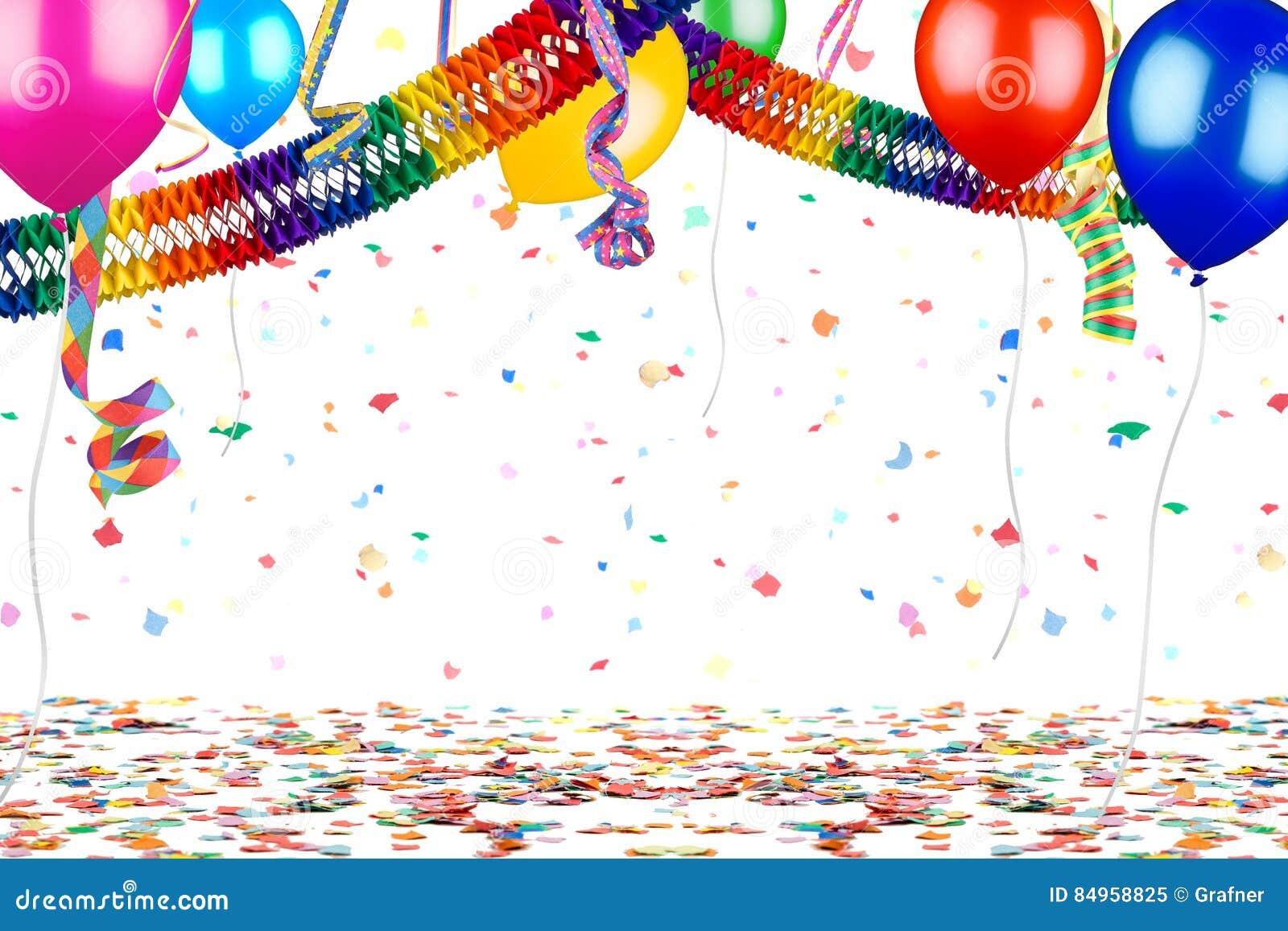 Fond coloré de célébration d anniversaire de carnaval de partie