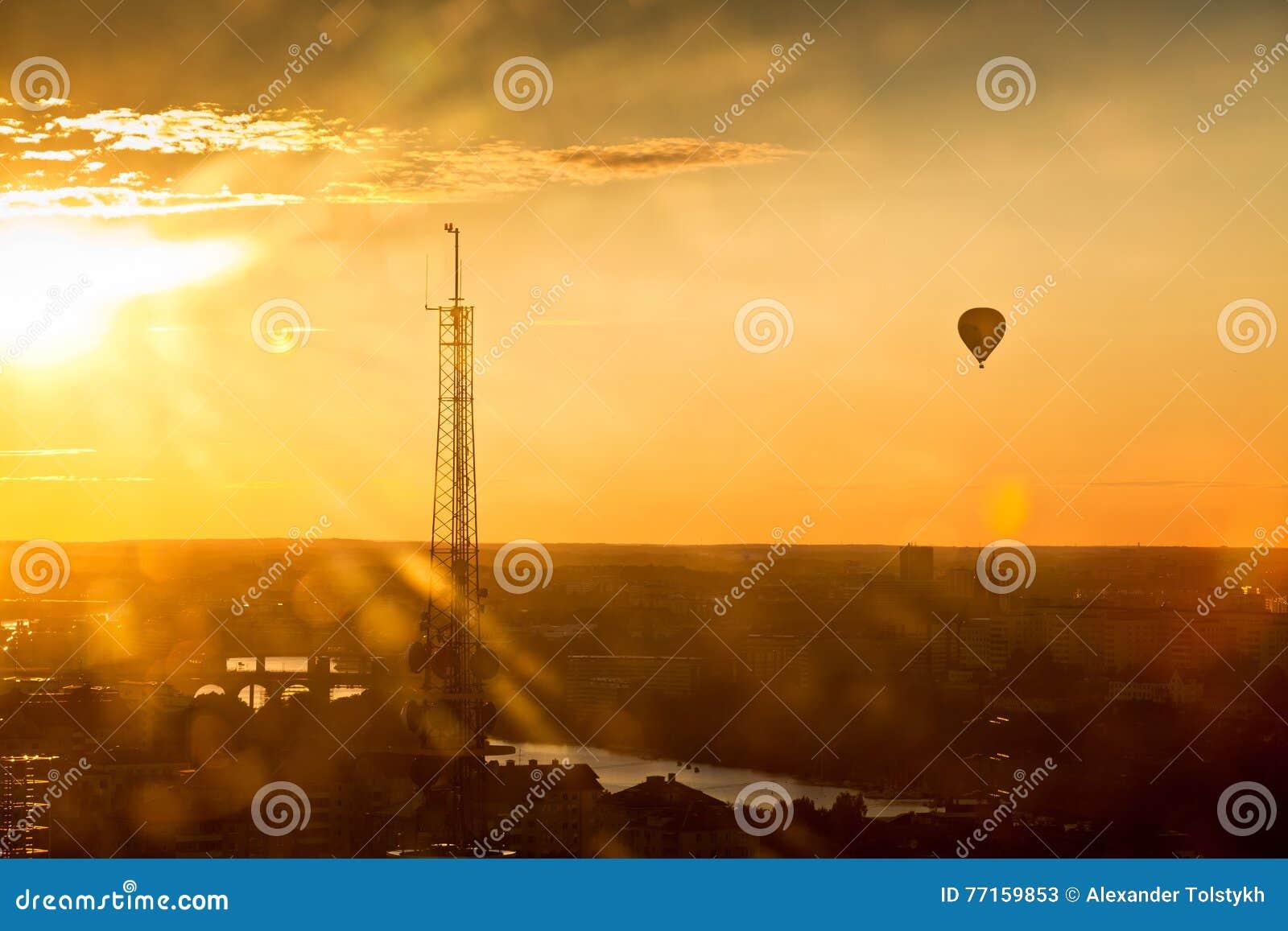 Fond coloré de coucher du soleil