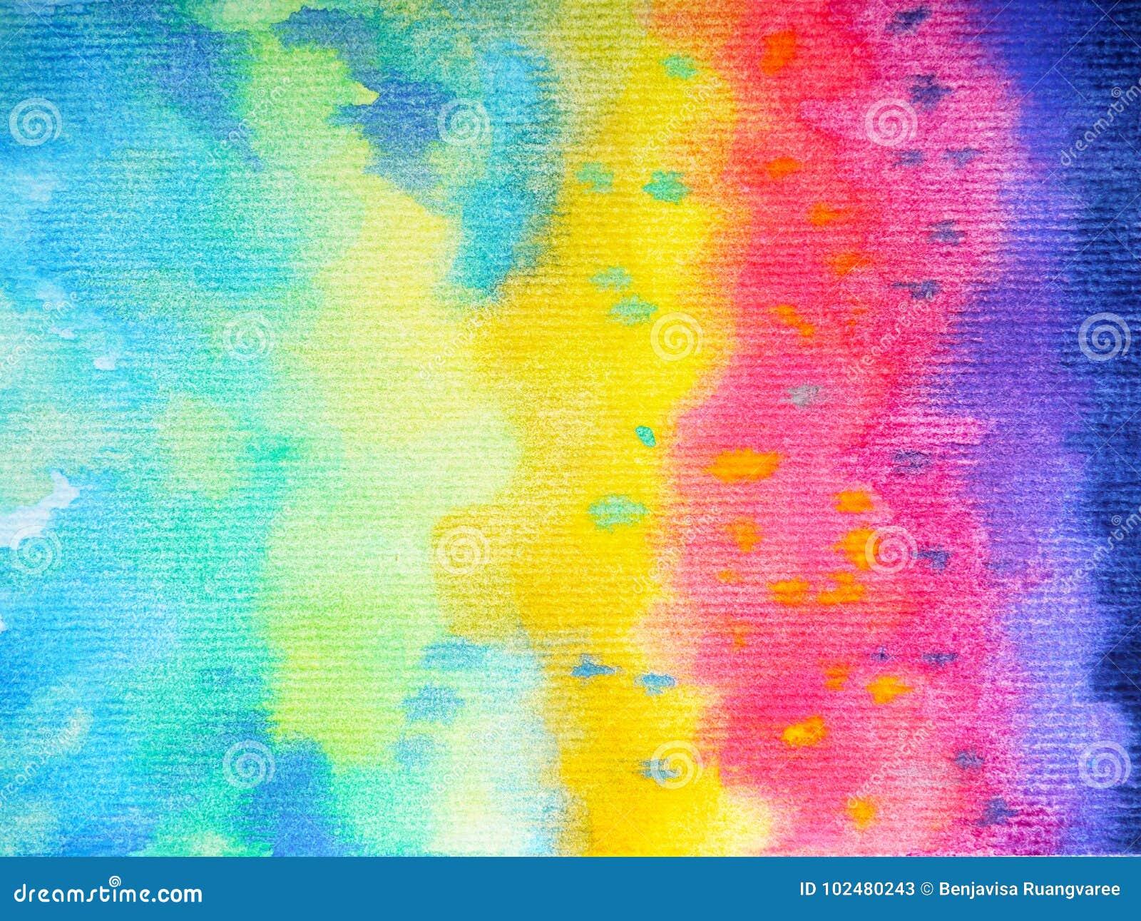 Fond Coloré De Peinture D Aquarelle De Couleur D Arc En Ciel