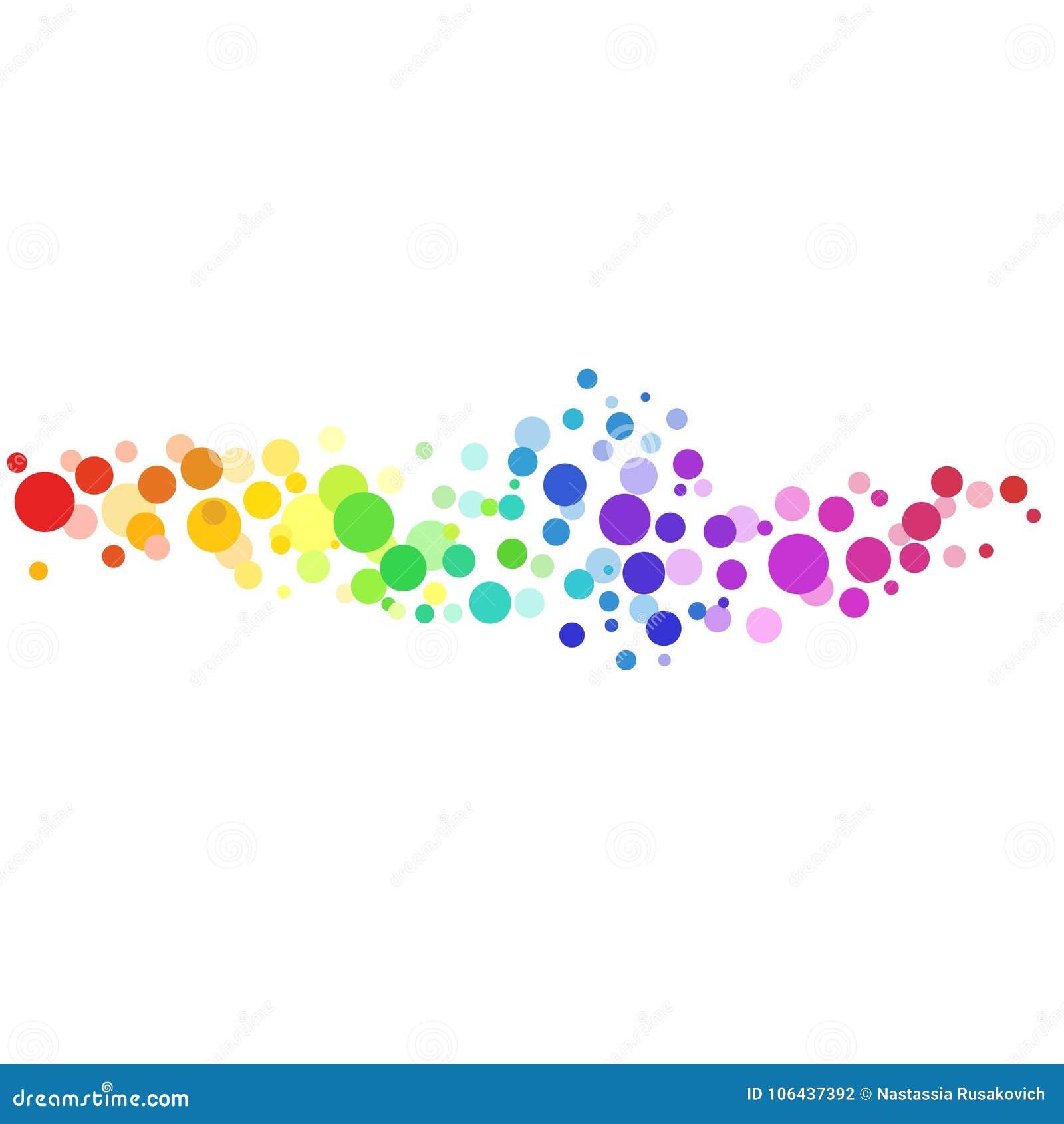 Fond coloré de vecteur de cercles