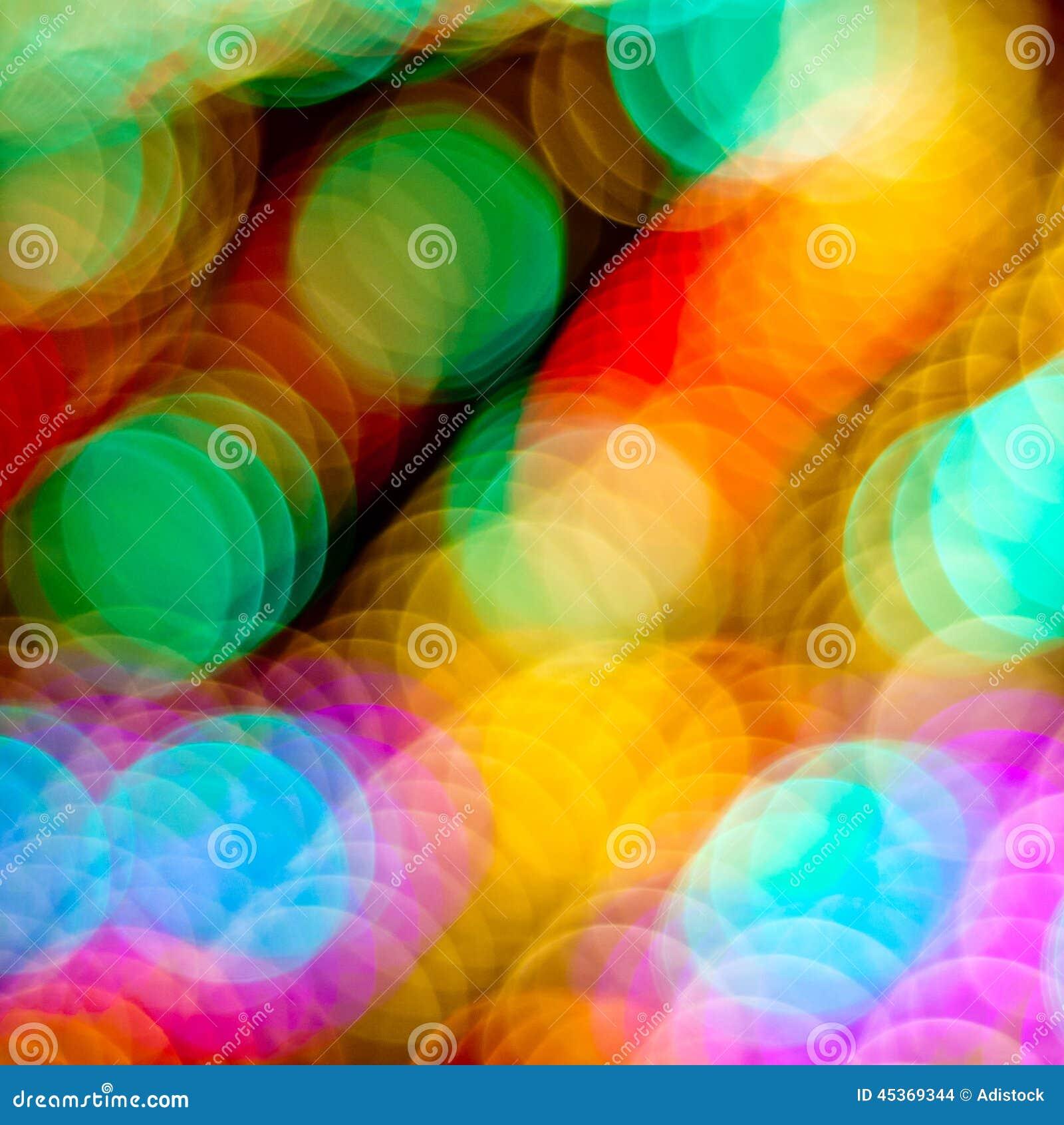 Fond coloré Defocused de lumières