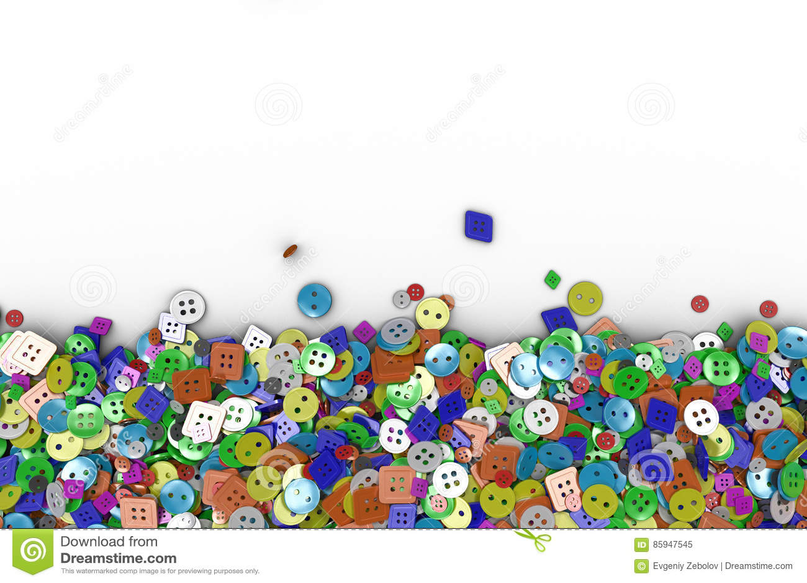 Fond coloré fait à partir des boutons de couture