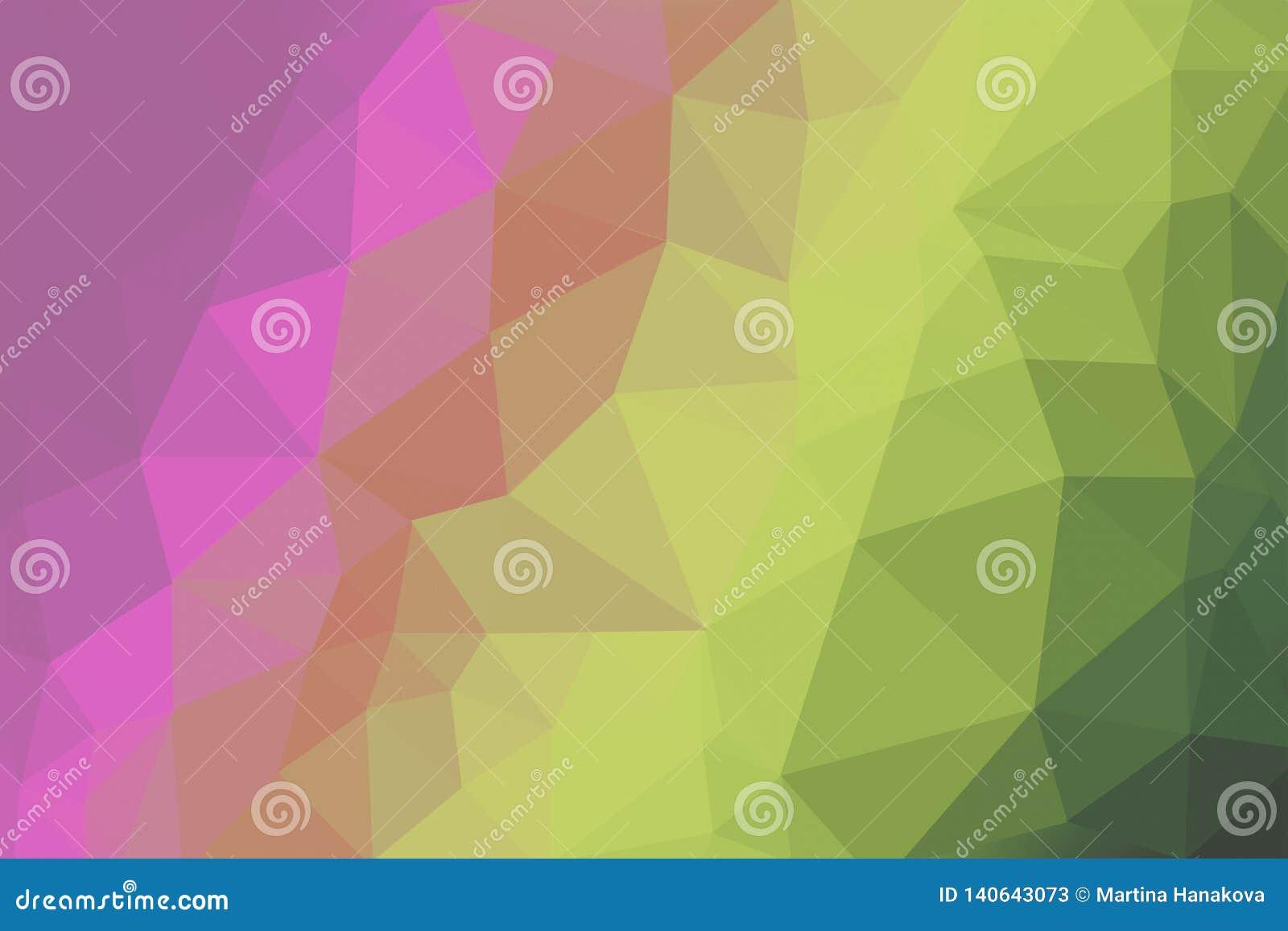 Fond coloré lumineux au néon de triangle de gradient, modèle abstrait de polygone