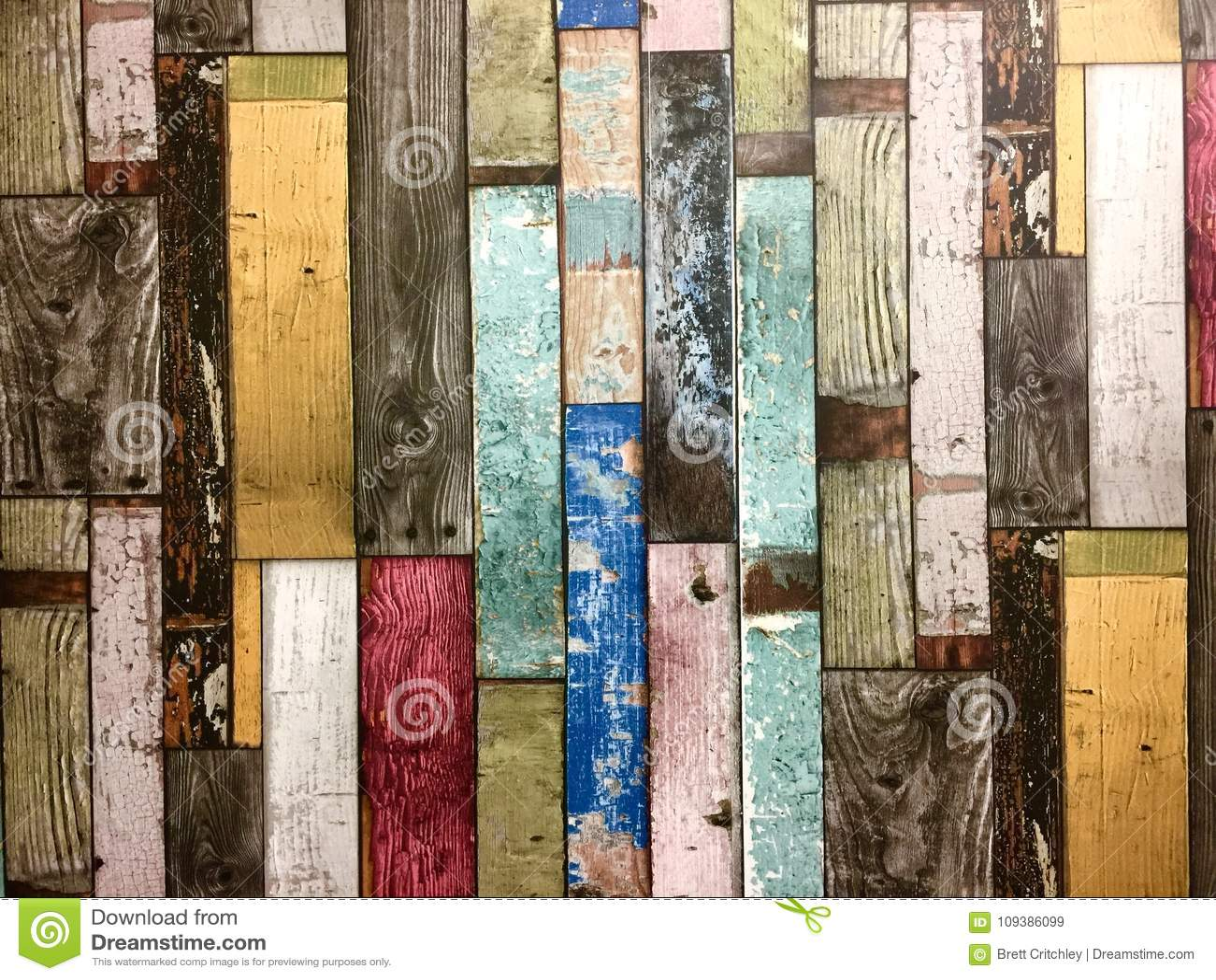 Fond coloré rustique de conseils en bois