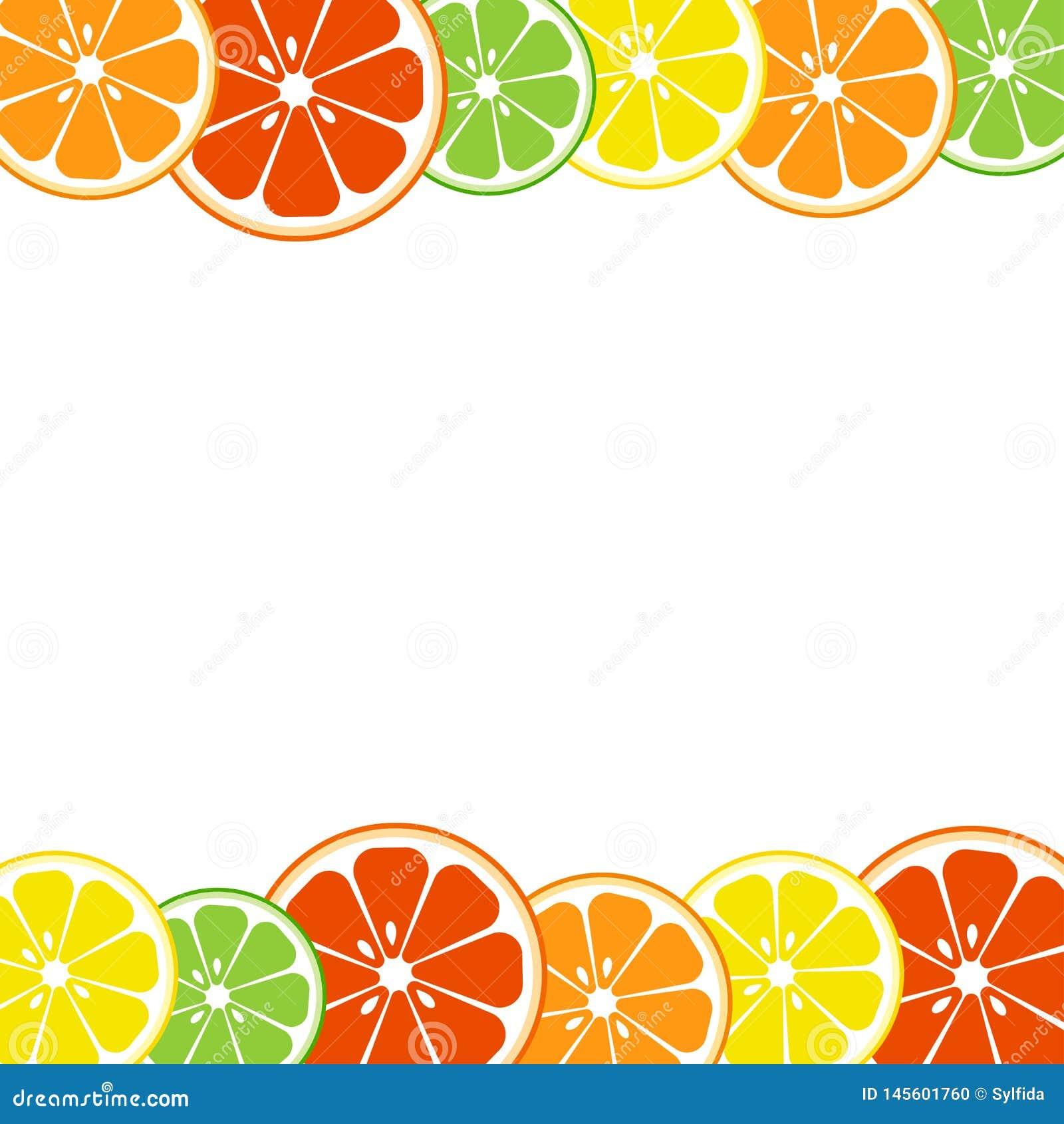 Fond color? d agrumes Citron, chaux, orange, pamplemousse Vecteur