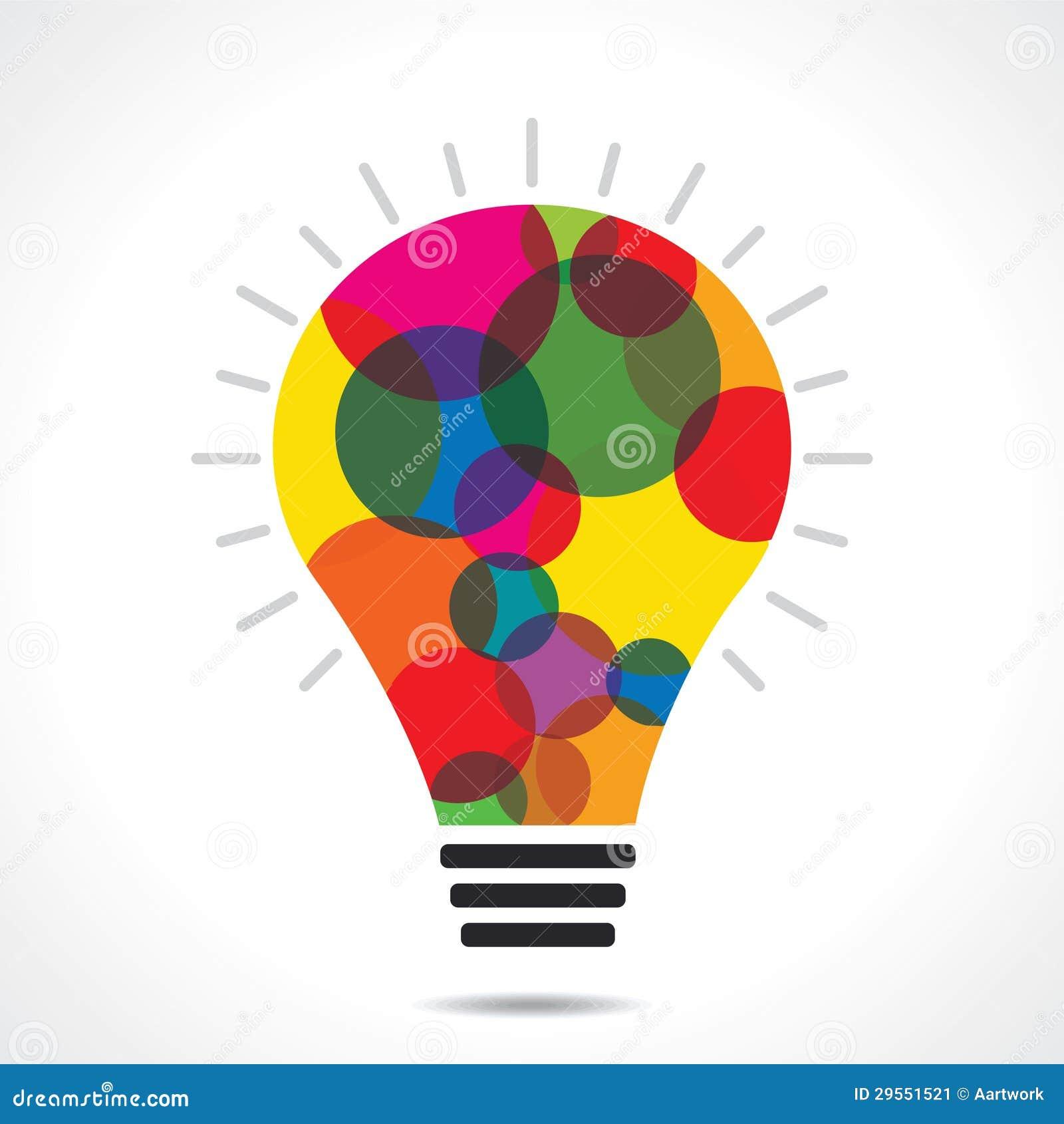 fond color d ampoule de cercle - Ampoule Colore