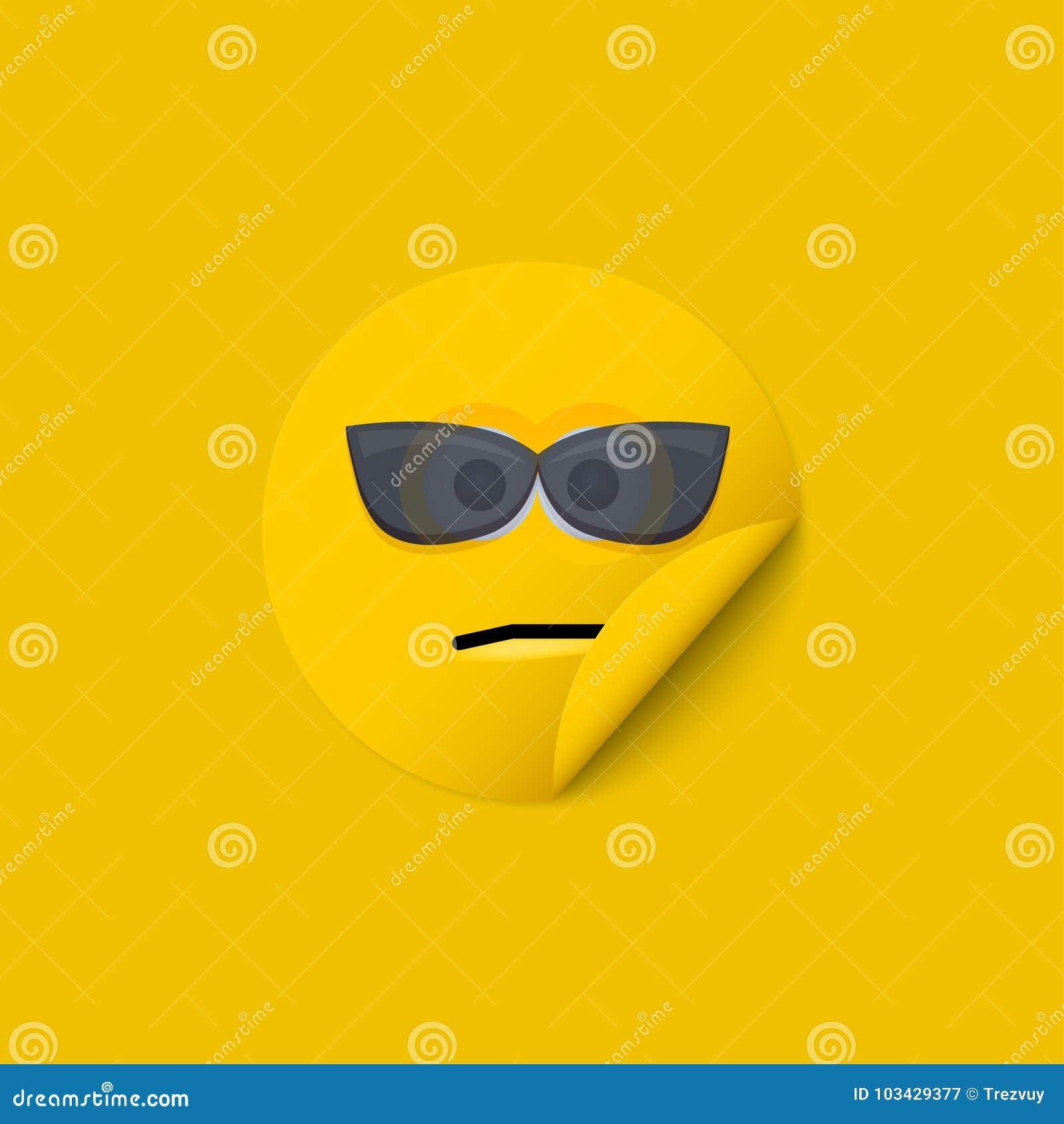 Fond créatif d autocollant jaune moderne de visage de vecteur