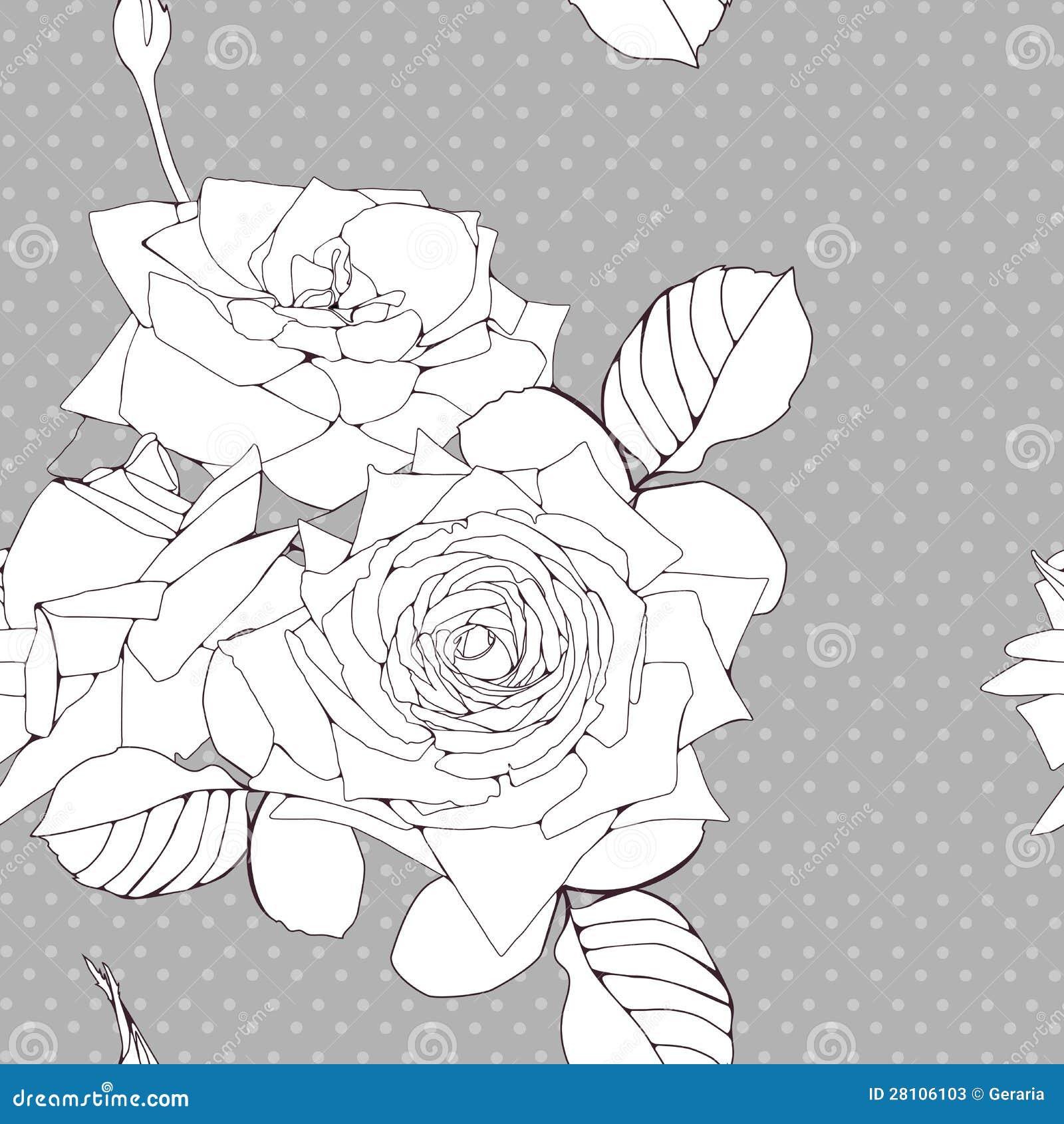 Fond décoratif avec des fleurs de roses
