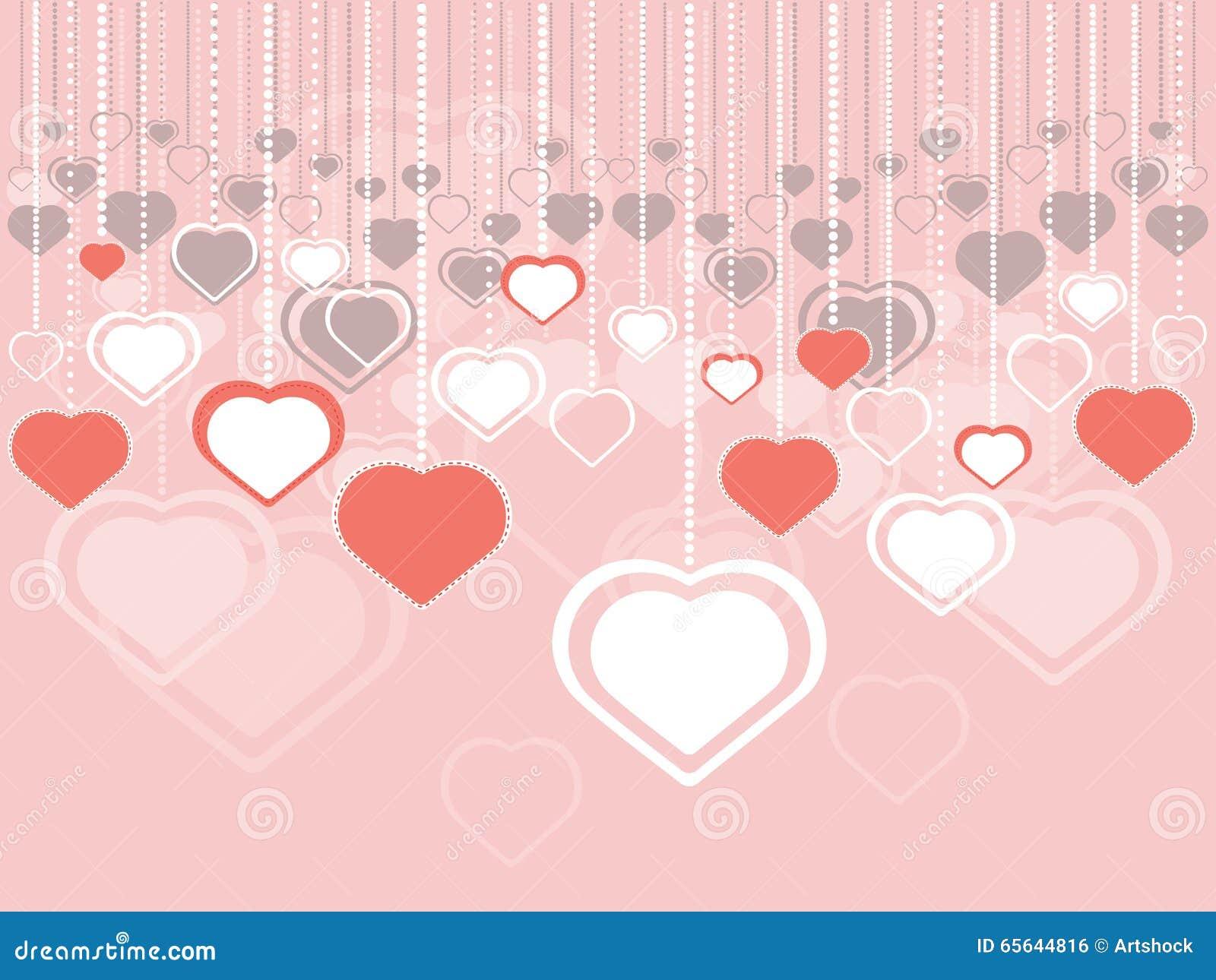 Fond décoratif de coeurs
