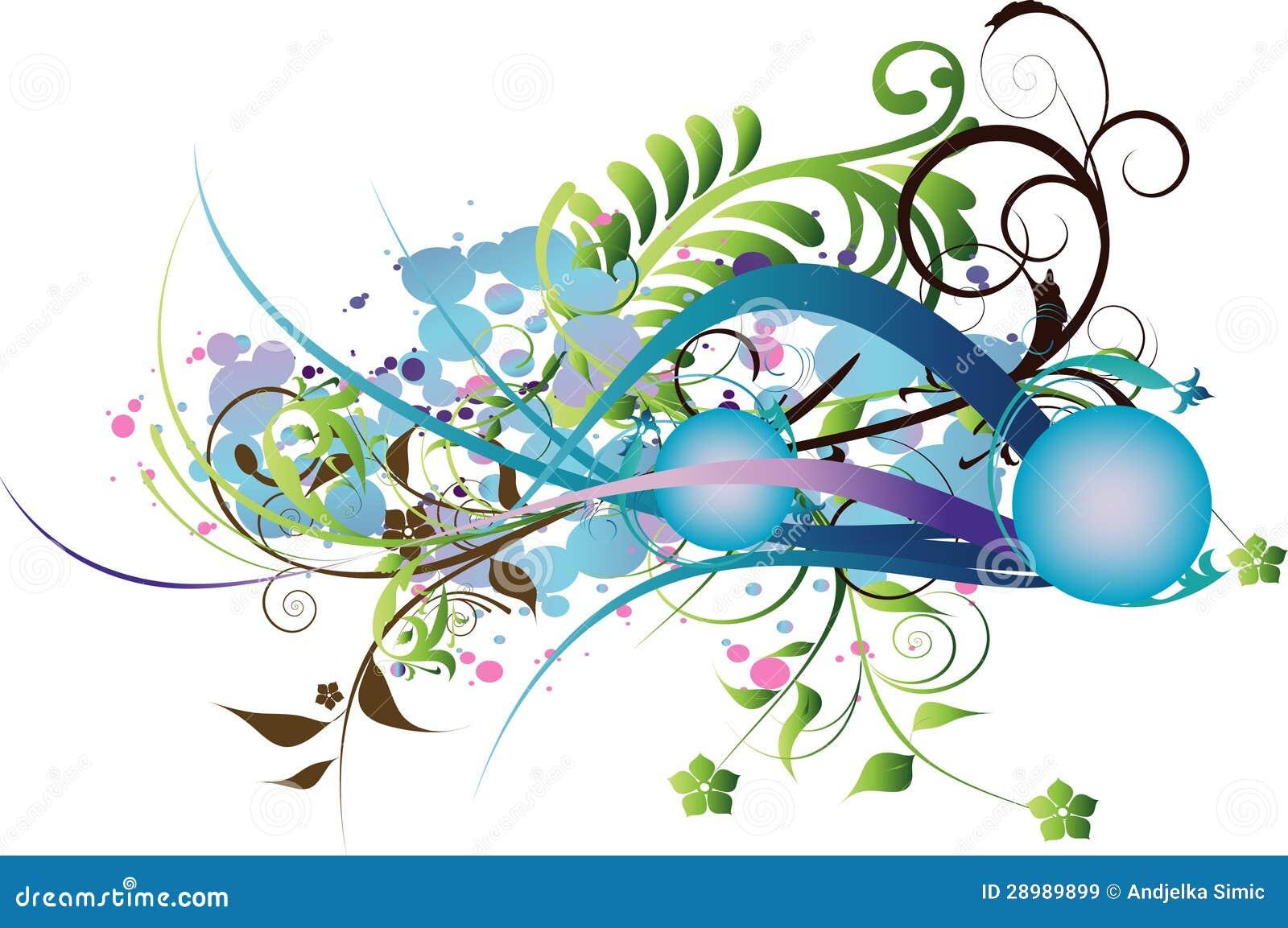 Fond décoratif de fleurs