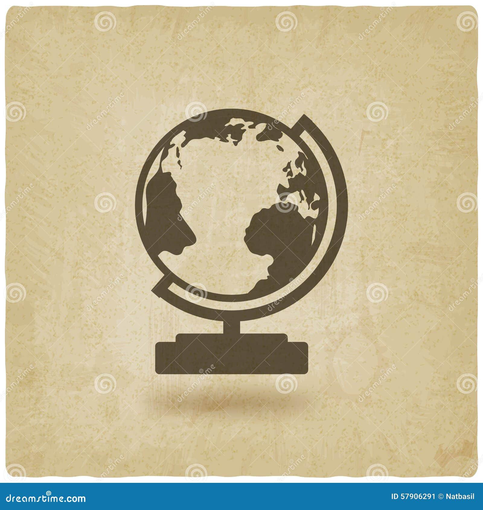 Fond d élément de conception de globe vieux