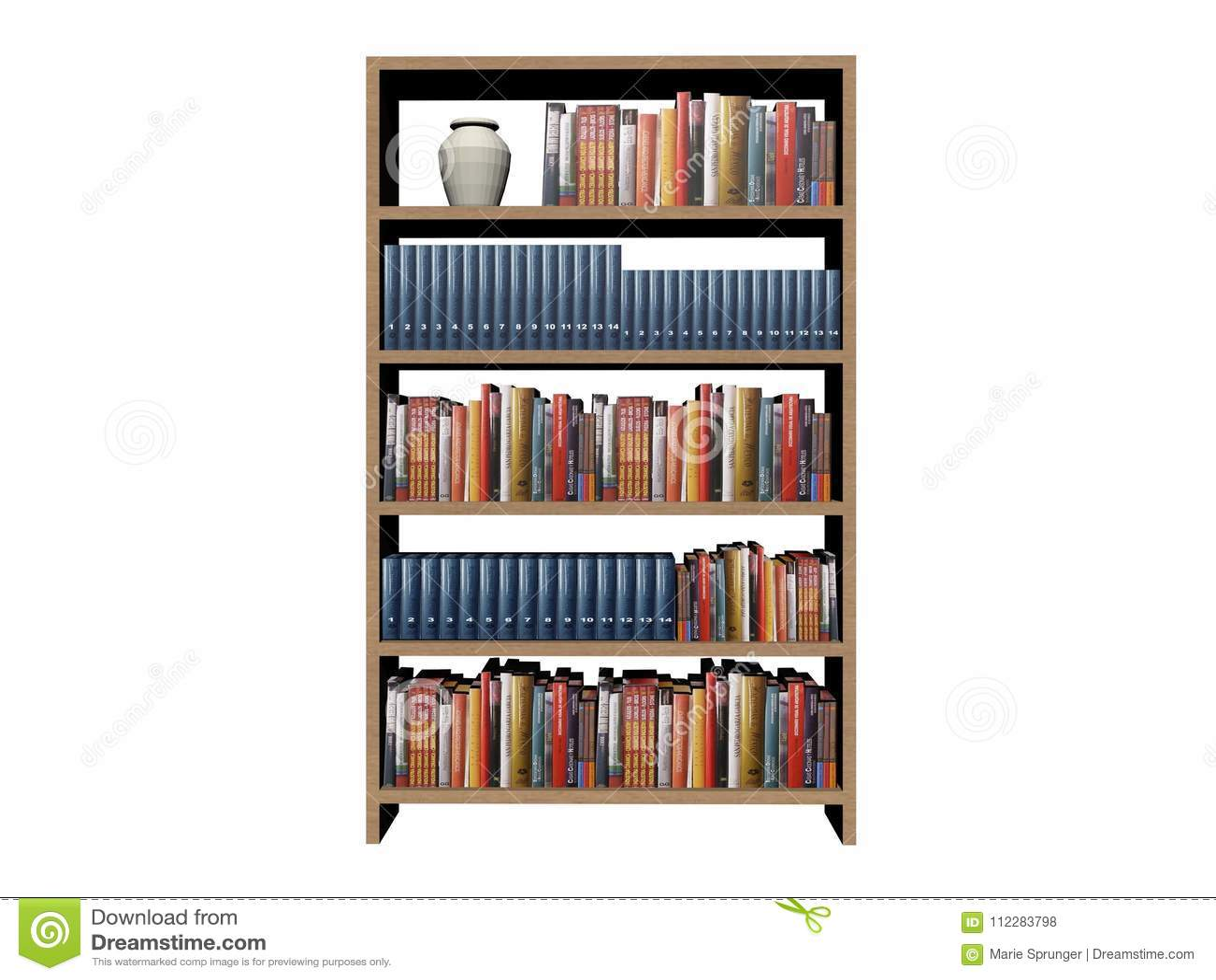 Fond D Etageres A Livres De Bibliotheque Sur Un Fond Blanc