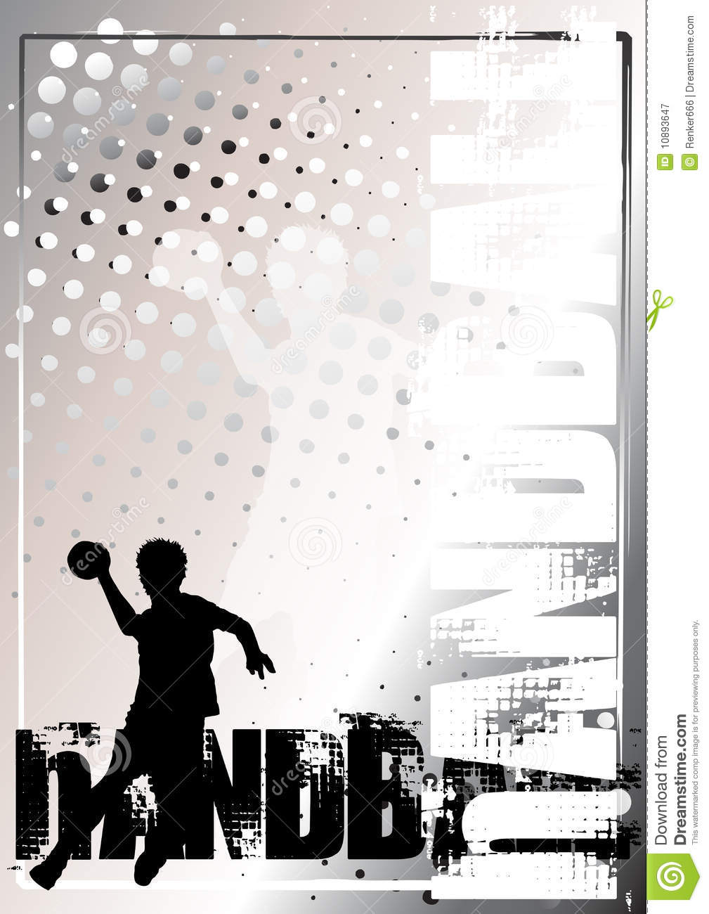Fond d 39 or 3 d 39 affiche de handball photographie stock libre for Fond affiche gratuit