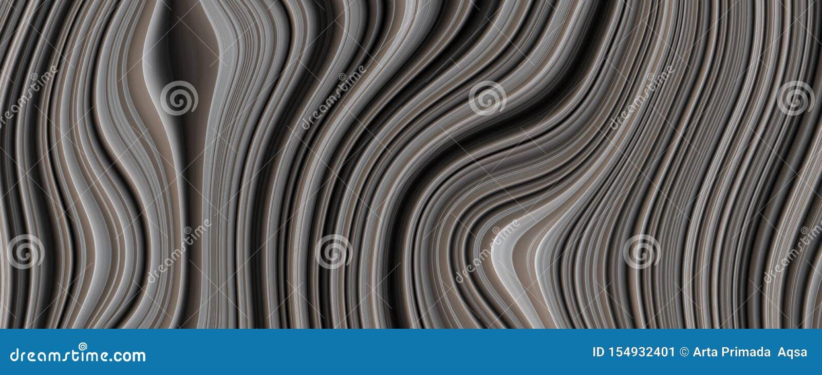 Fond d abrégé sur courbe de noir de l illustration 3D