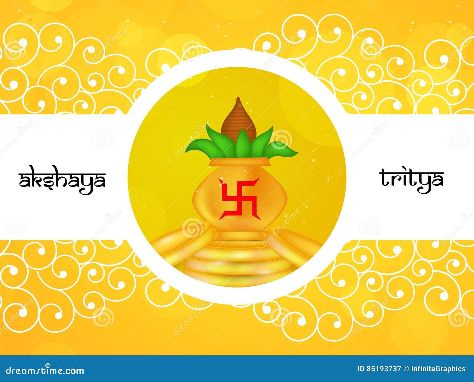 Fond Dakshaya Tritiya Illustration De Vecteur Illustration Du