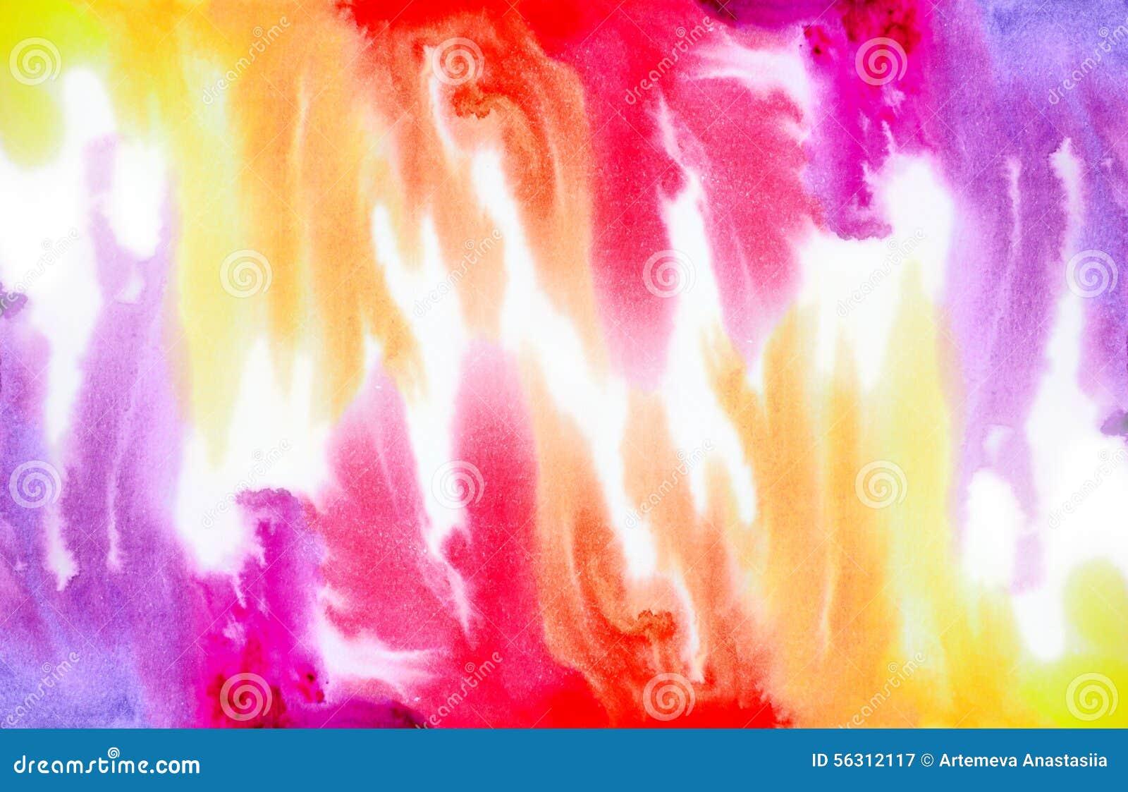 Fond d aquarelle d arc-en-ciel
