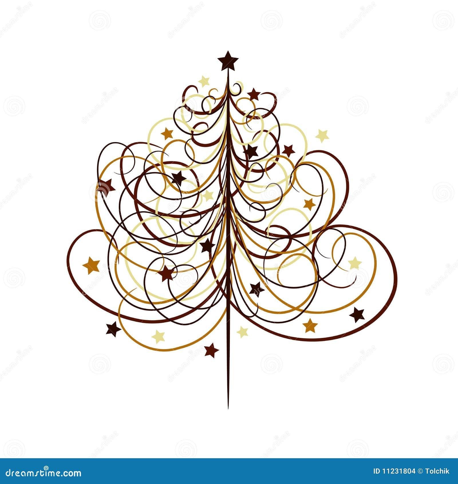 Fond d arbre de Noël, vecteur