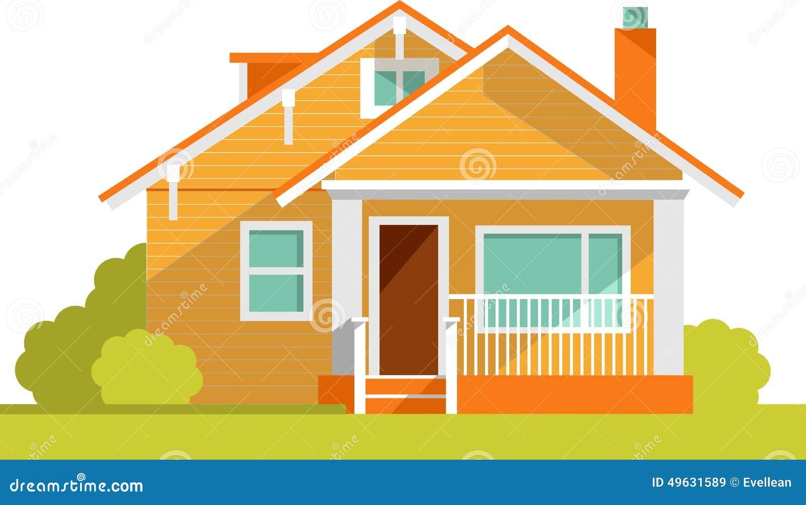 Fond d 39 architecture avec la maison de famille illustration for Photos d architecture de maison