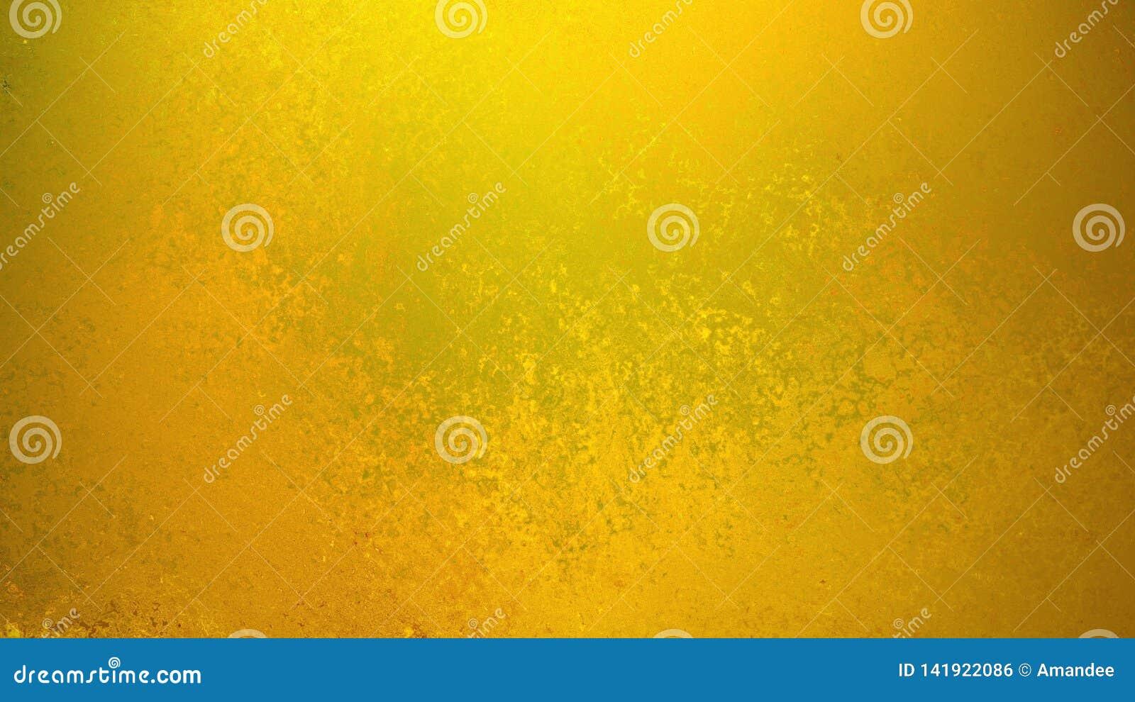 Fond d or avec la texture grunge faible dans la vieille conception de cru, fond jaune