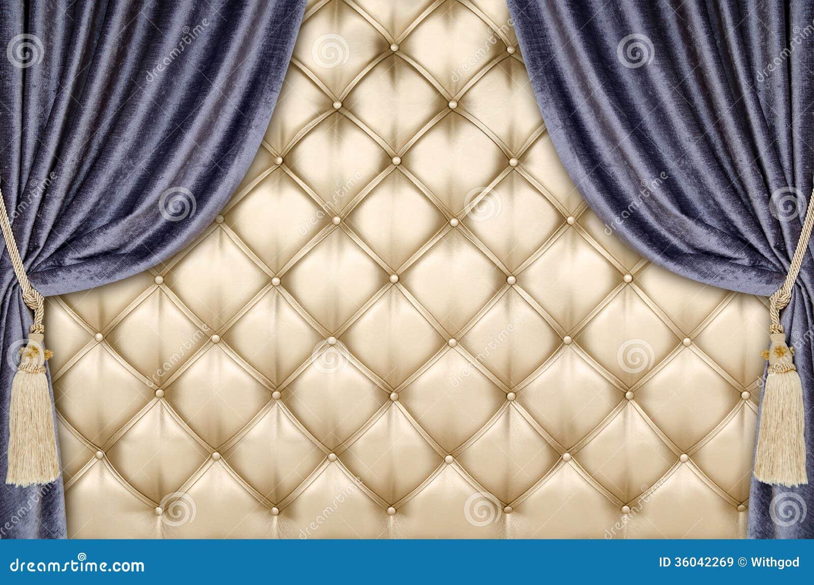 Fond d 39 or de rideau en velours de tapisserie d 39 ameublement for Velours de soie ameublement