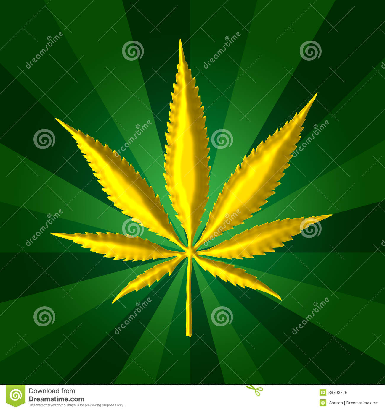 Fond d 39 or de vert de feuille de cannabis illustration stock illustration du couleur fonc - Feuille cannabis dessin ...
