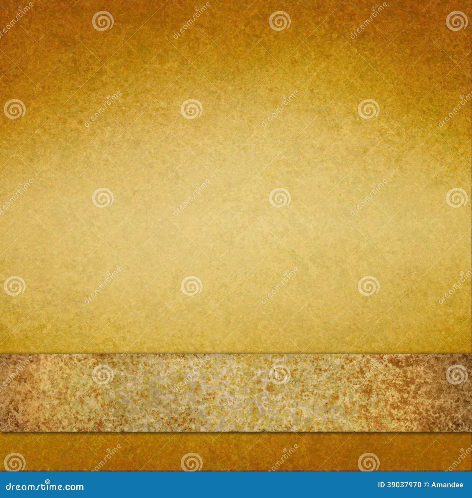 Fond d or de vintage avec le ruban brun d or