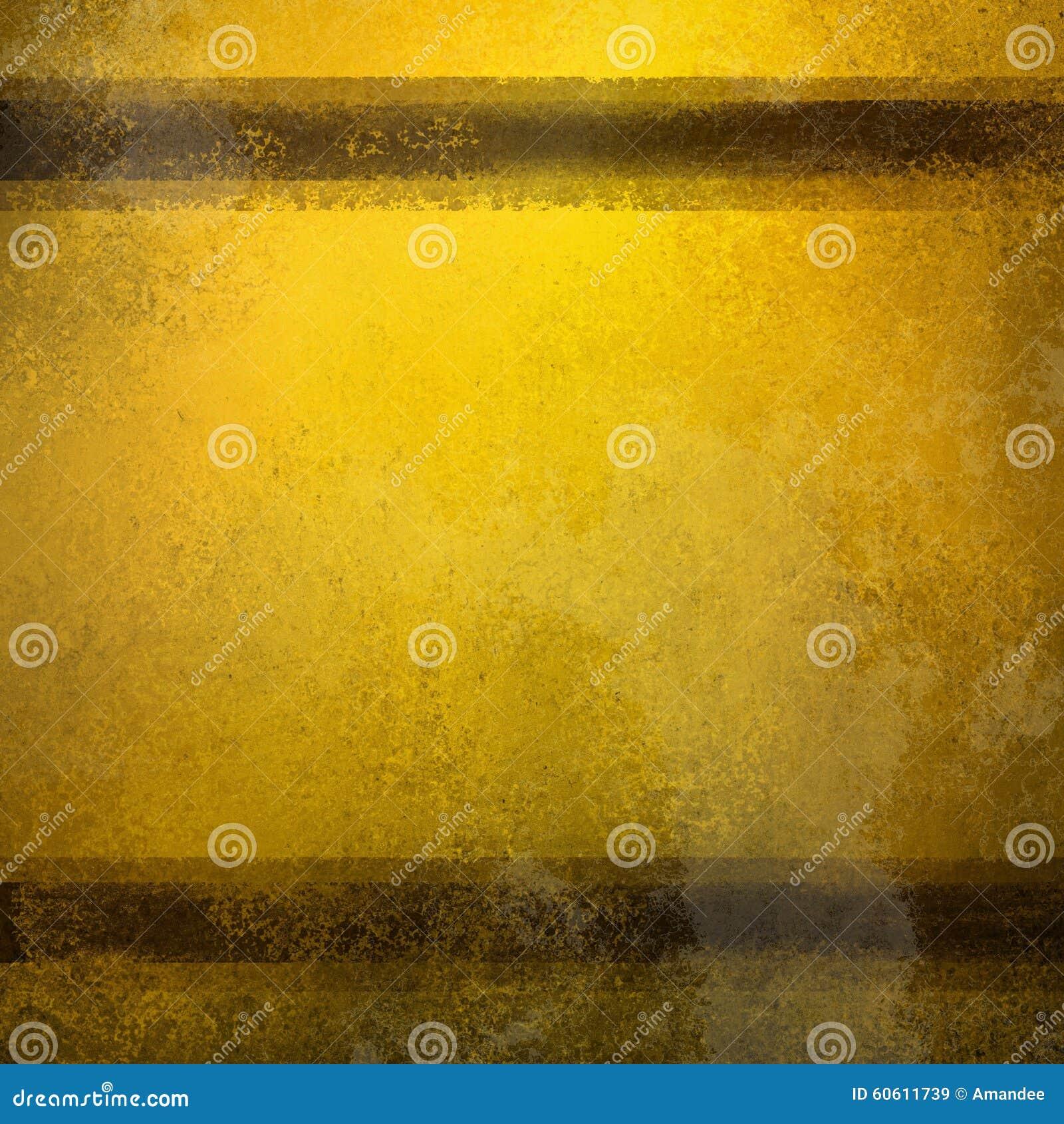 Fond d or de vintage avec les rayures brunes et la vieille texture fanée affligée et les taches
