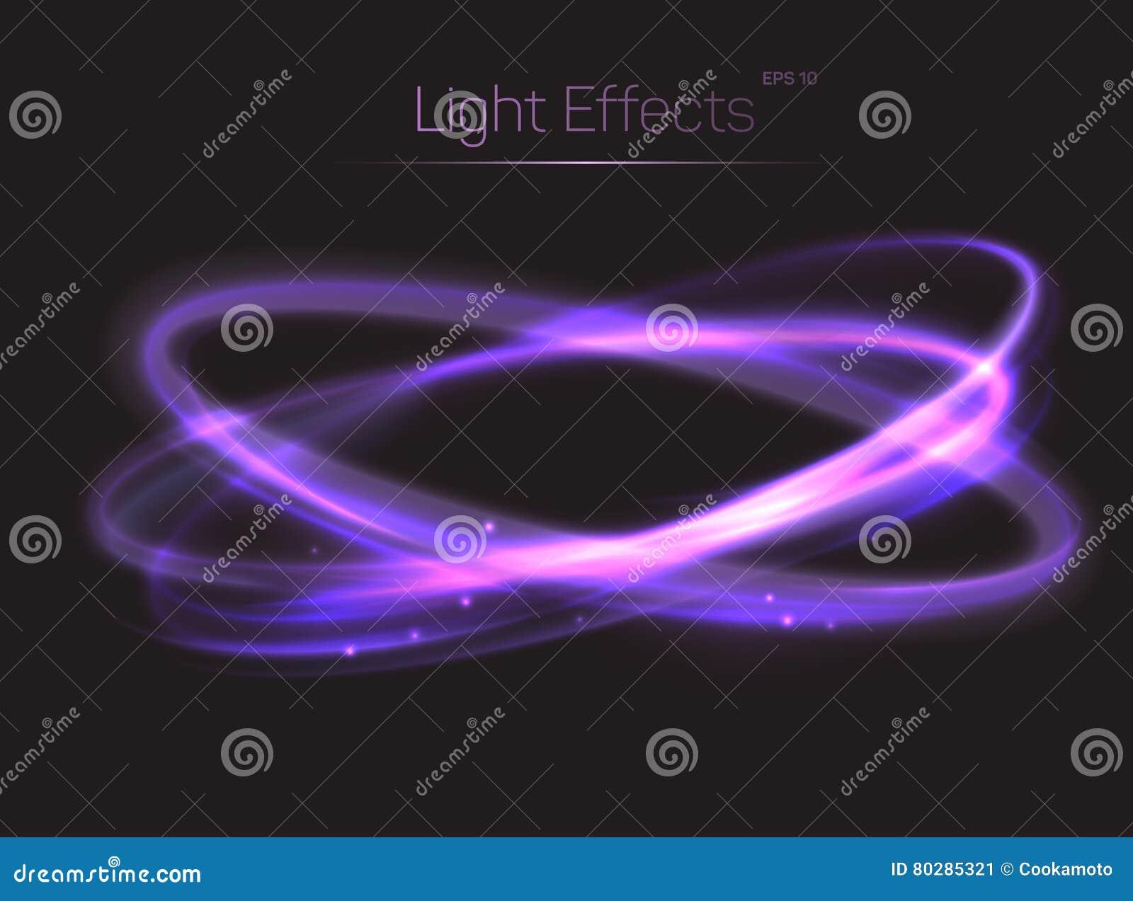 Fond d effets de la lumière de cercle ou d ovales