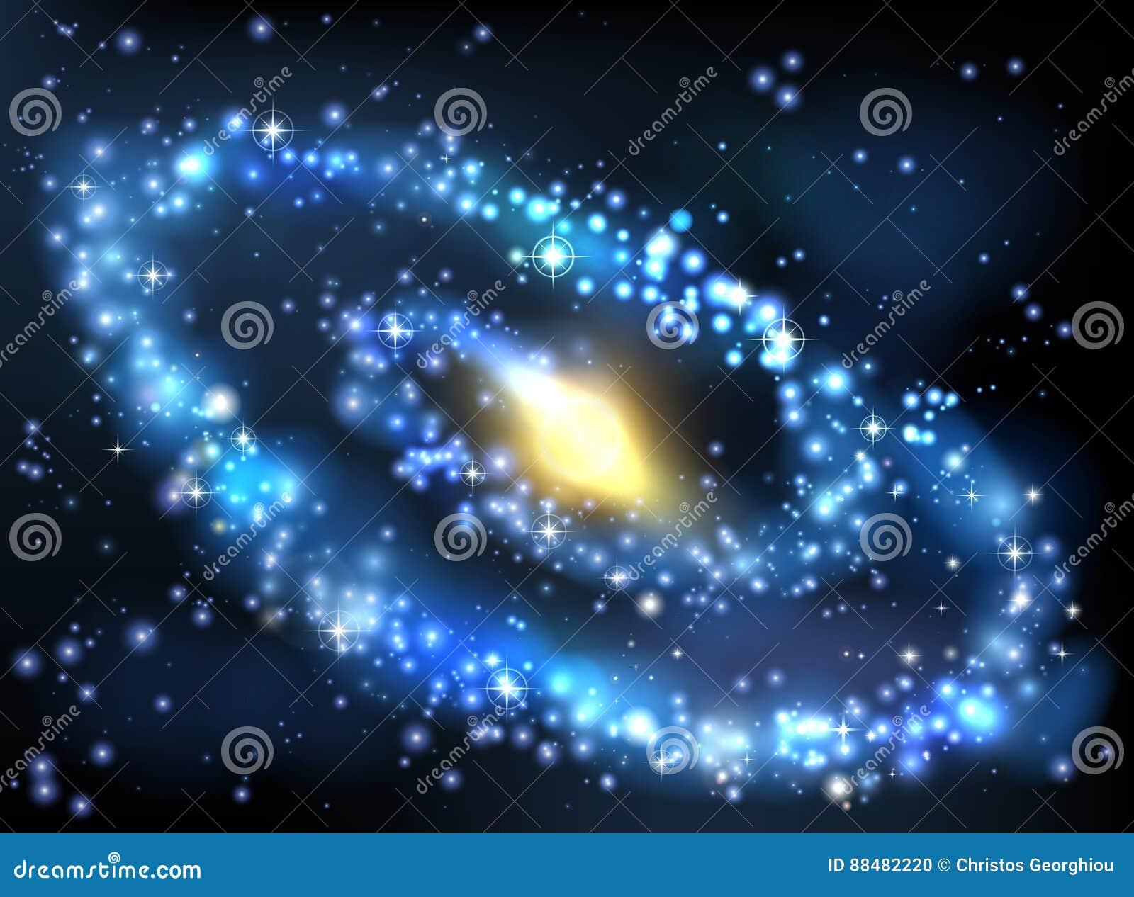 Fond d espace extra-atmosphérique de galaxie et d étoiles