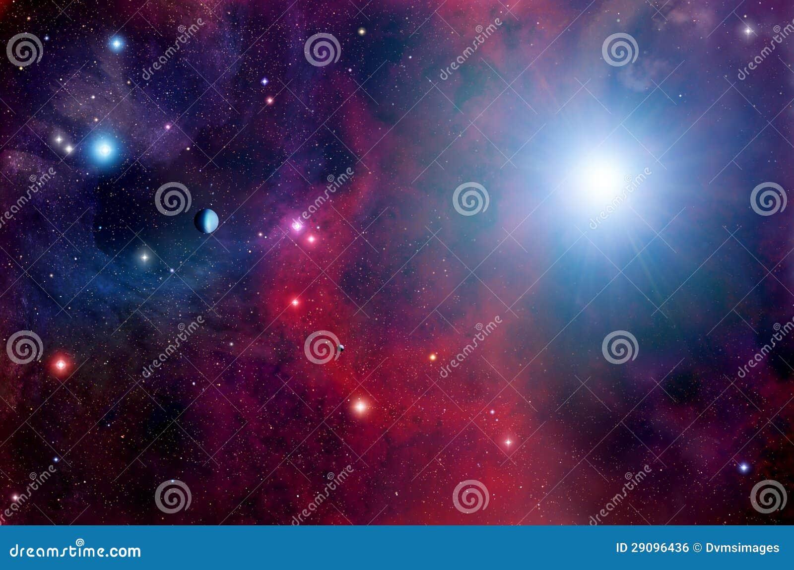 Fond d espace lointain