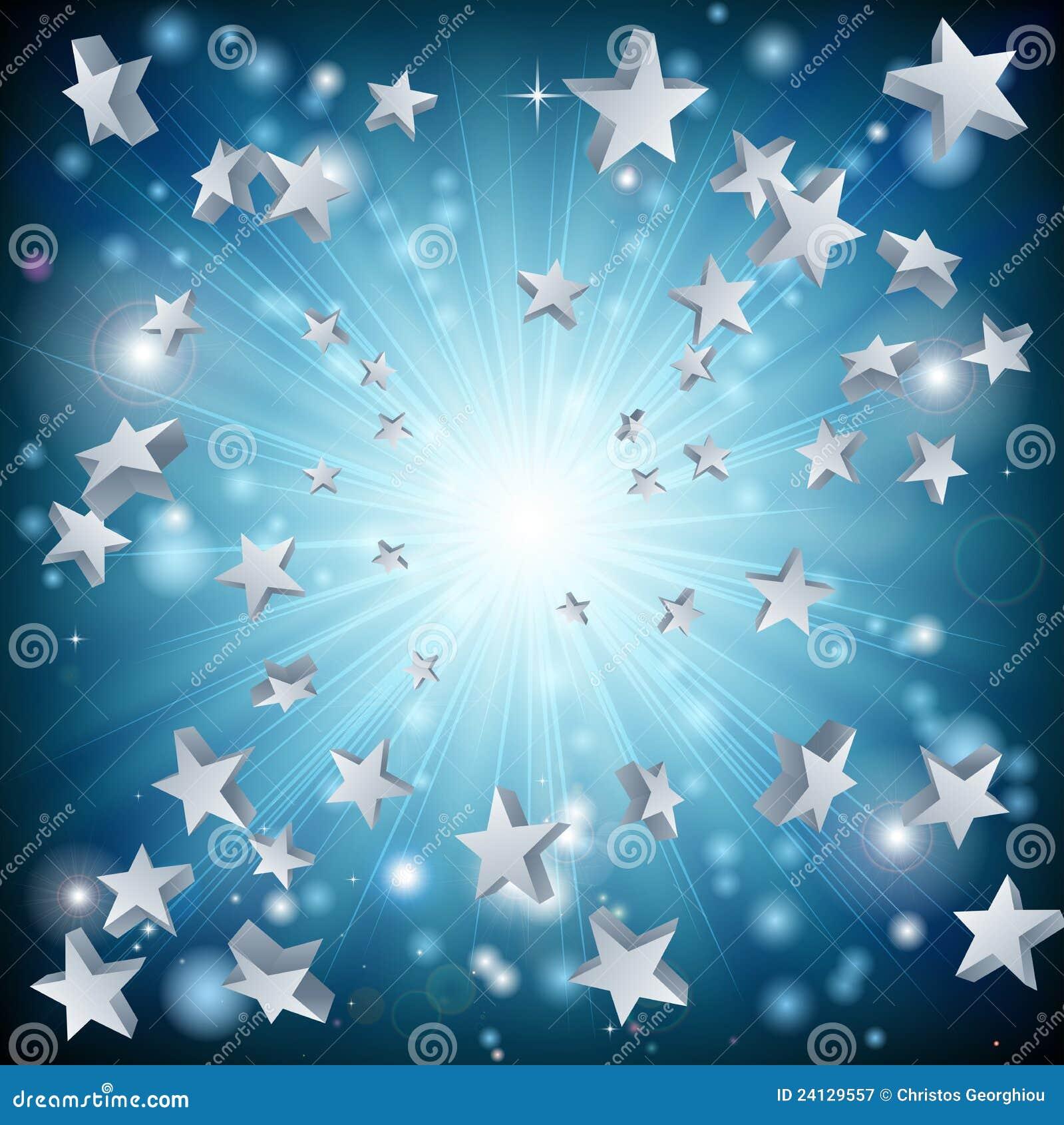Fond d explosion d étoile bleue