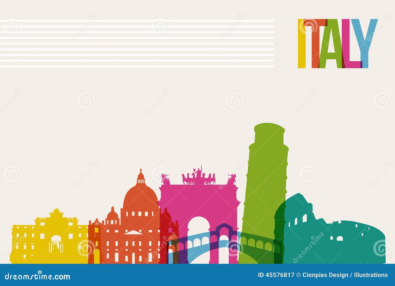 Fond d horizon de points de repère de destination de l Italie de voyage