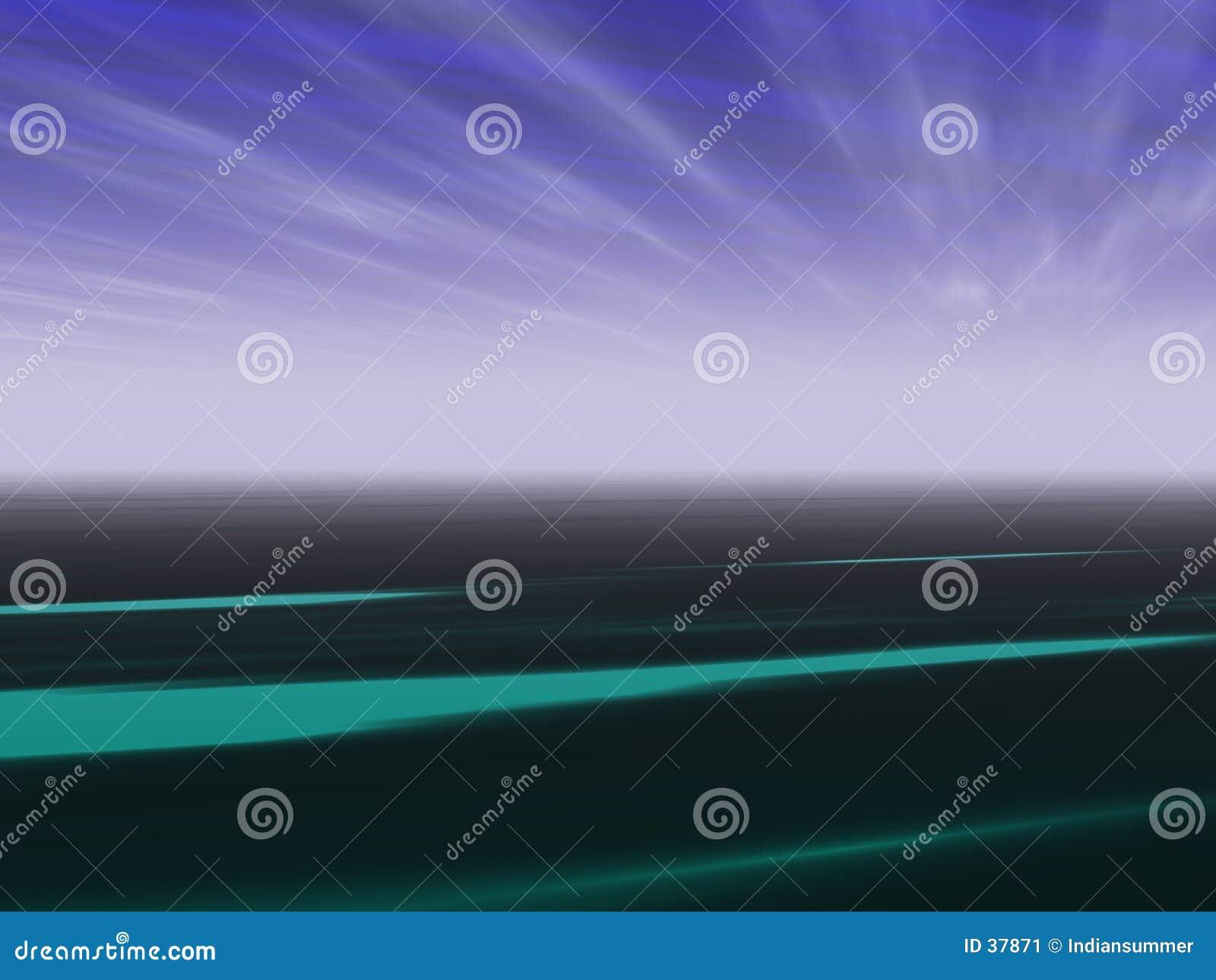 Fond d horizontal de point de vue