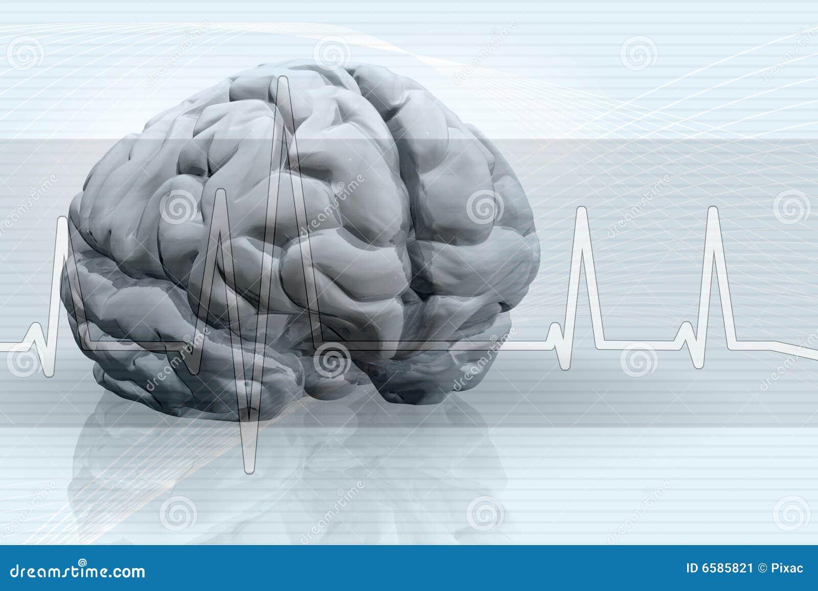 Fond d impulsion de cerveau