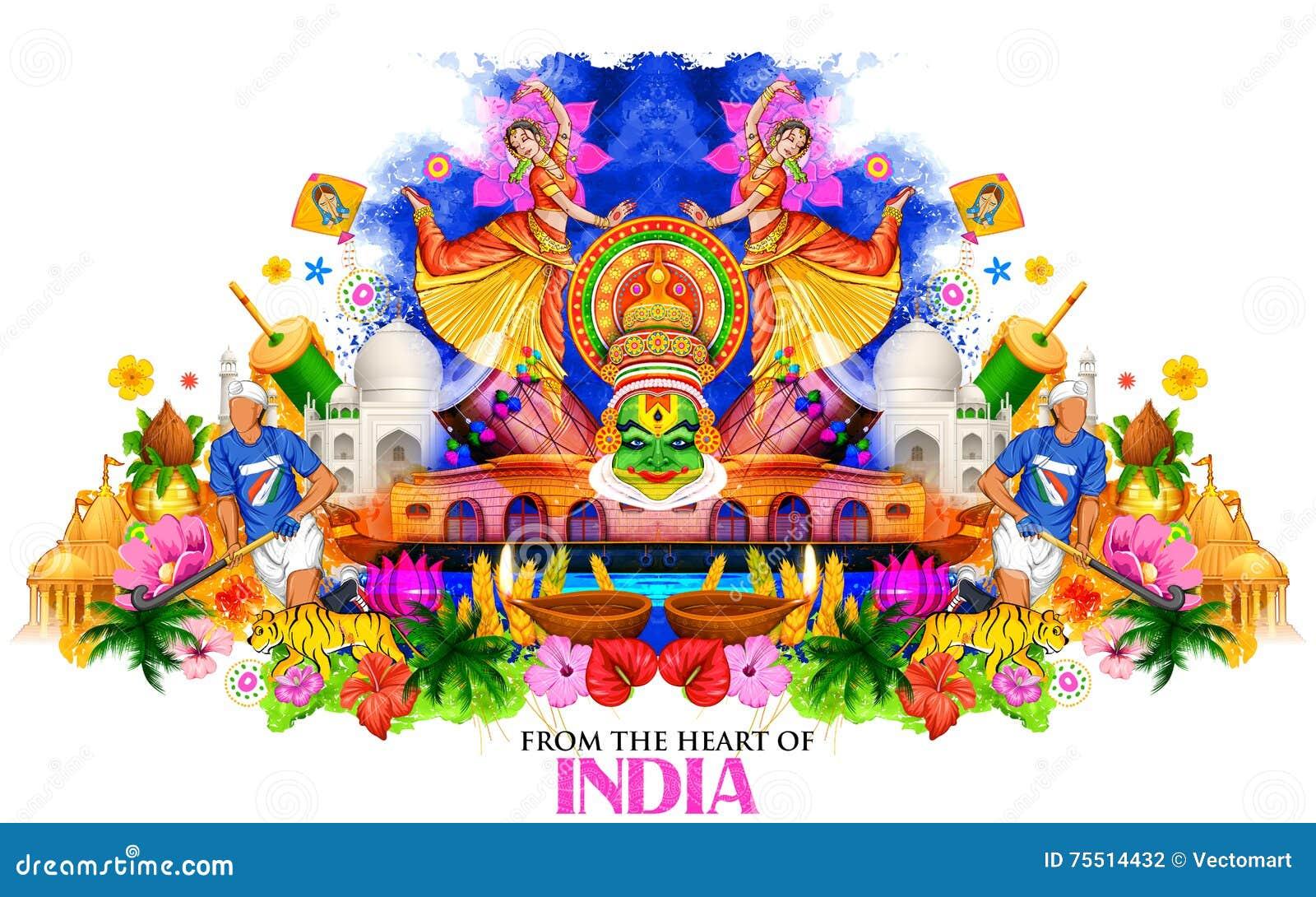 Fond d Inde montrant sa culture et diversité
