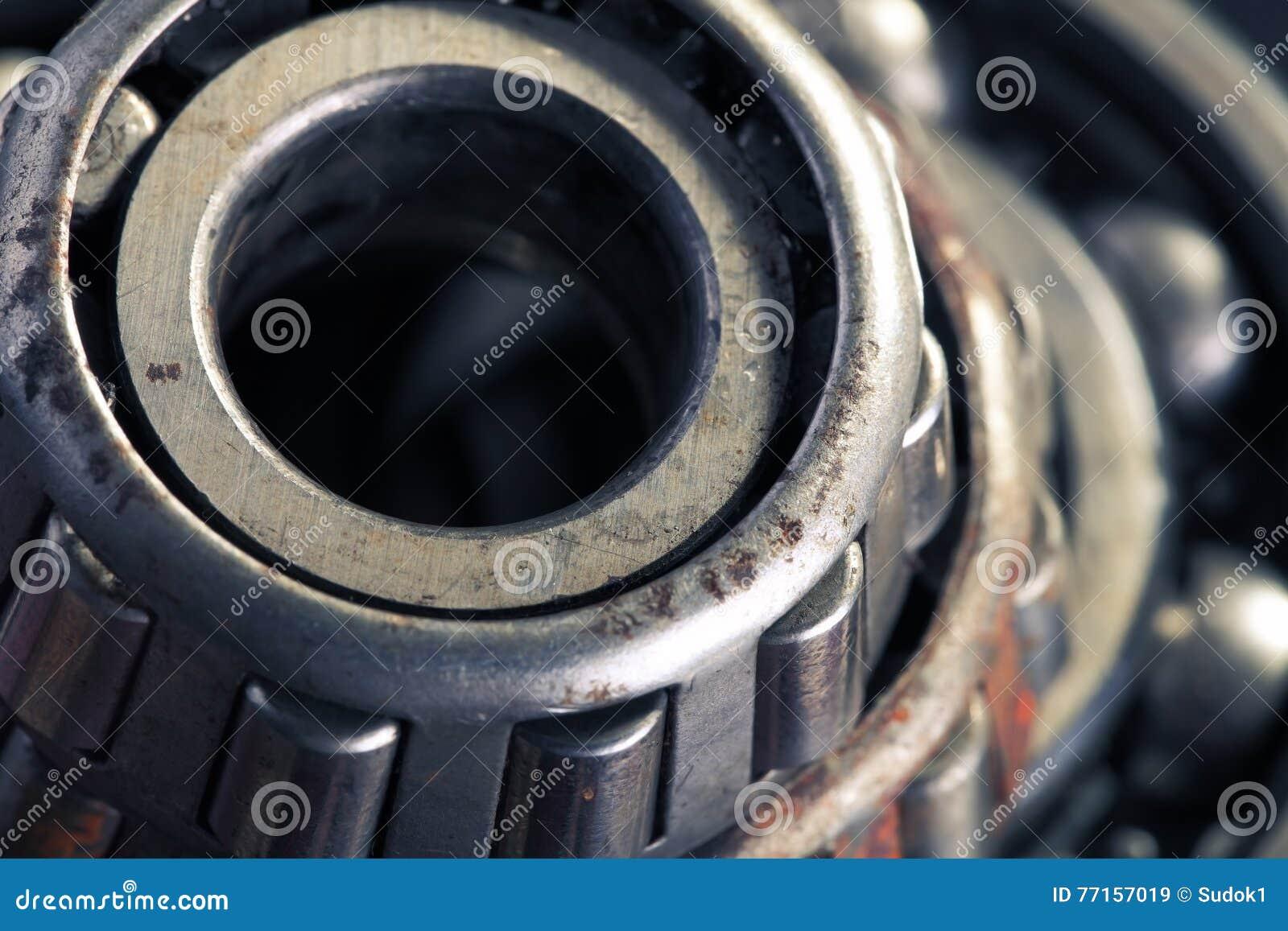 Fond d industrie mécanique avec le roulement à billes