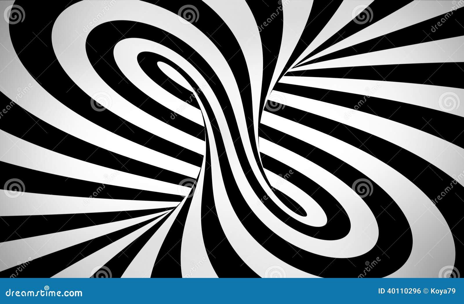 Fond 3d noir et blanc abstrait