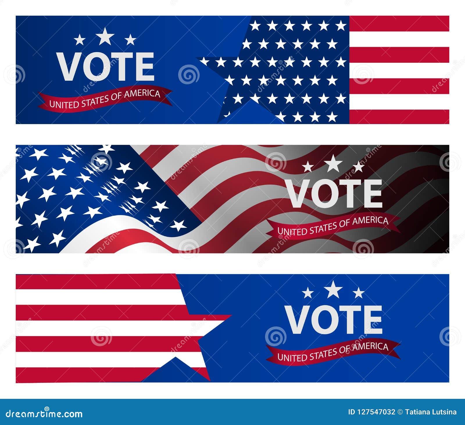 Fond de bannière d élection présidentielle Élection présidentielle 2020 des USA